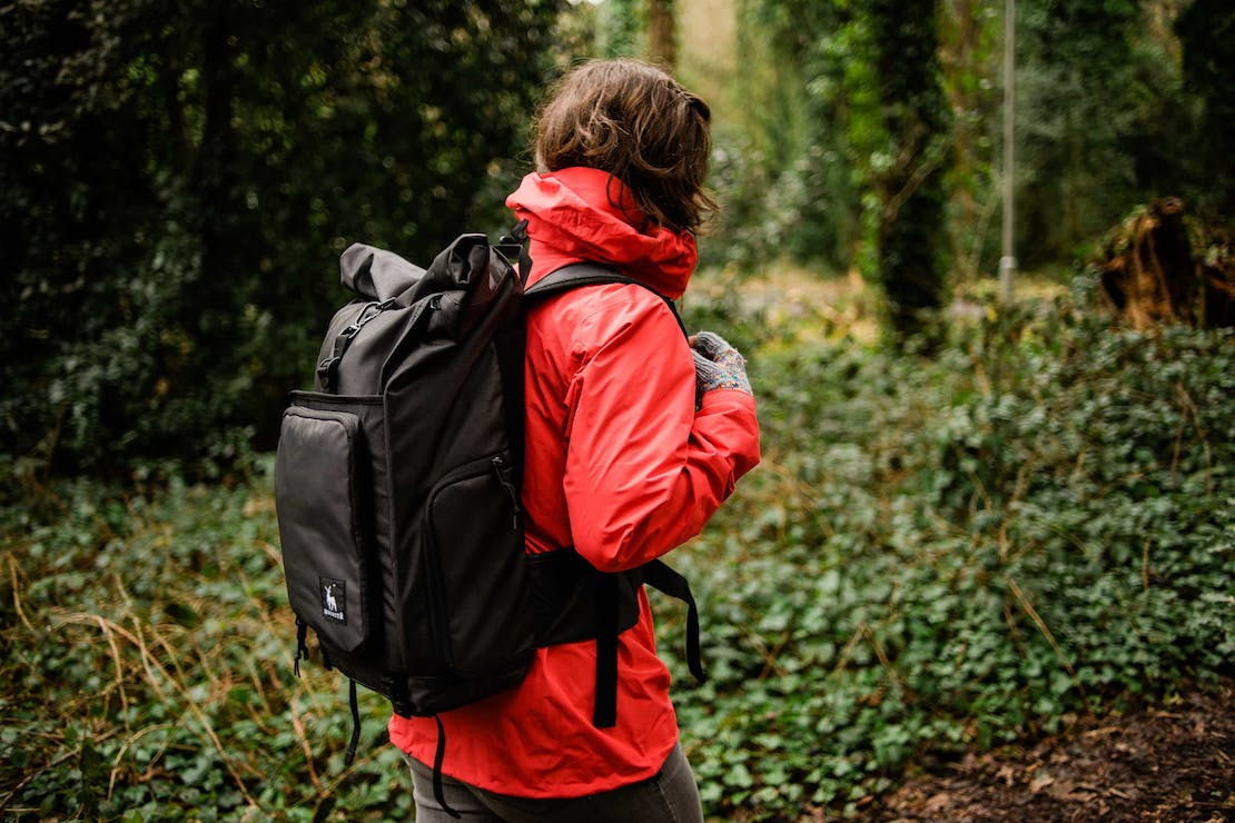 Brevite roll-top camera backpack in England