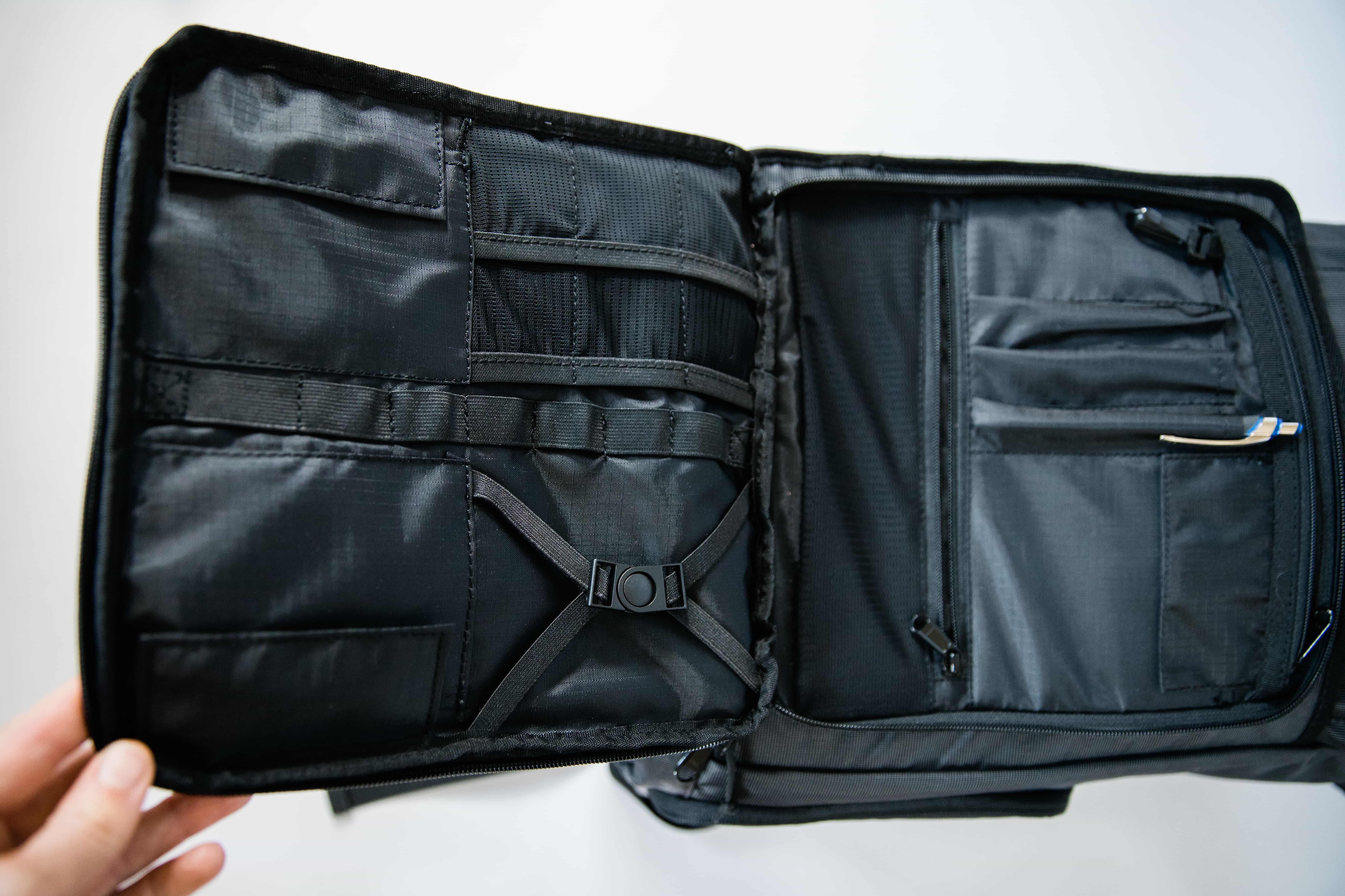 Organized inside pocket of Brevite Roll-top