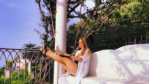 Brittney Martinson in Amalfi Coast, Italy