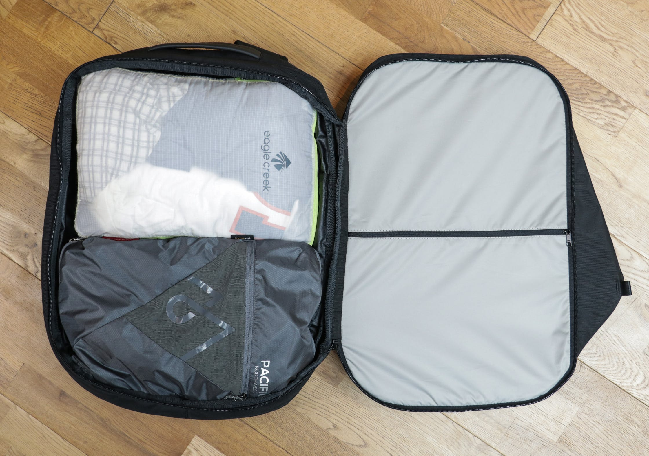 Inside The Main Compartment Of The OPPOSETHIS Invisible Carry-On