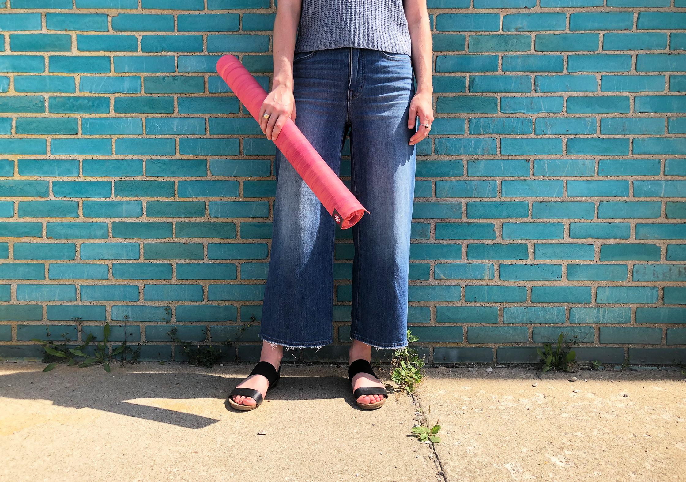 Manduka eKO SuperLite Yoga Mat Rolled Up