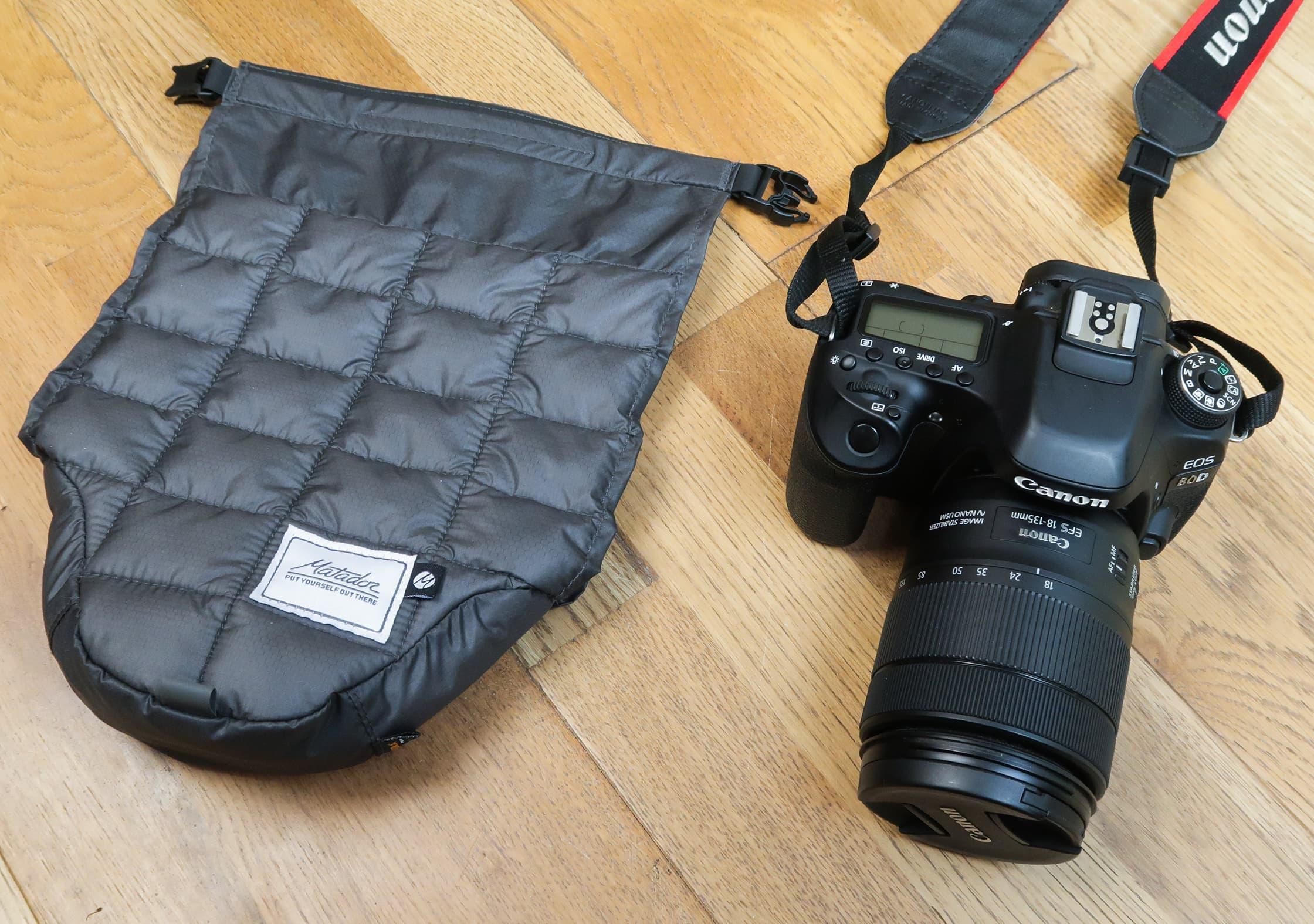 Matador Camera Base Layer & Canon 80D With An 18-135mm Lens