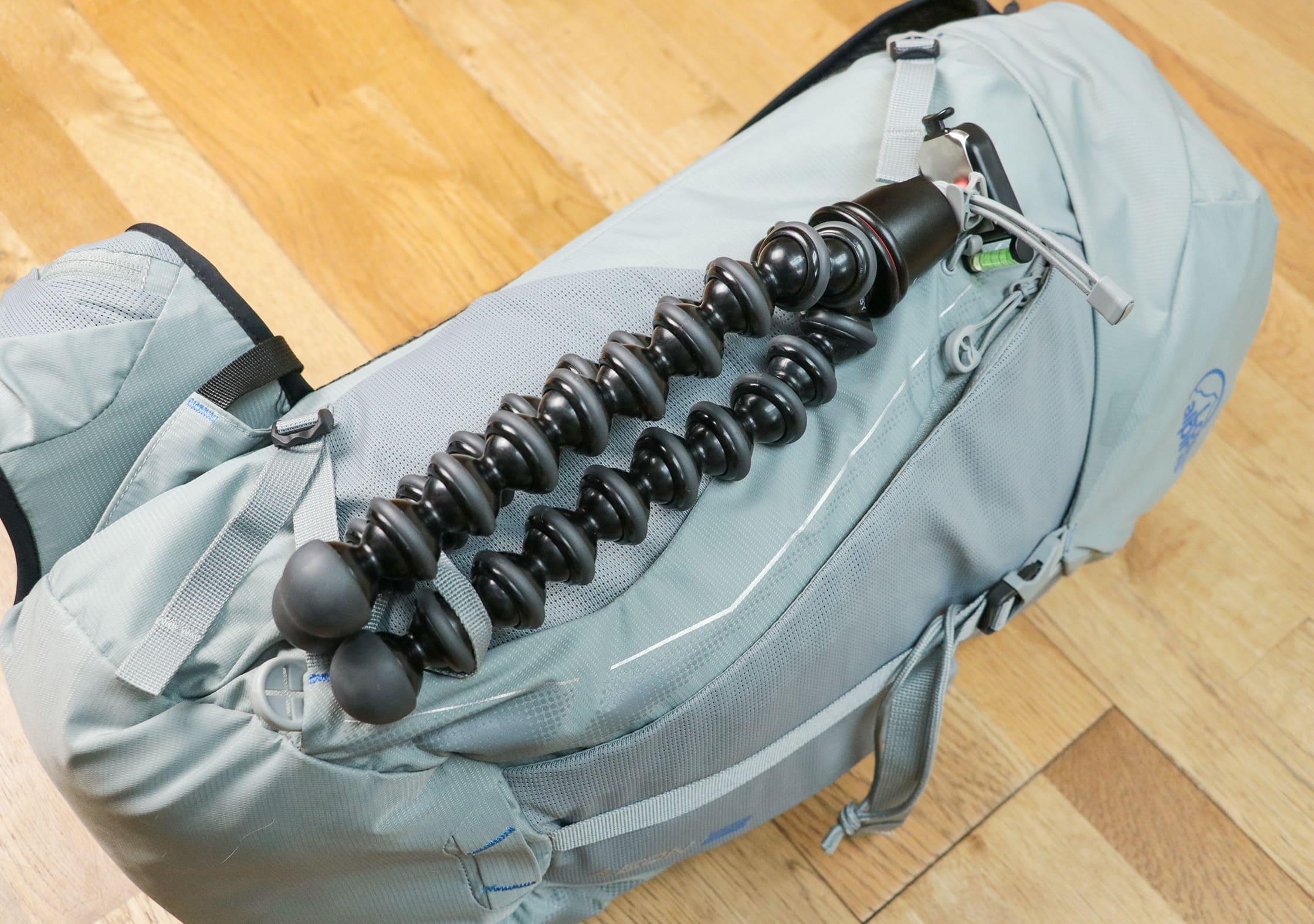 JOBY GorillaPod 3K Attached To The Lowe Alpine Aeon Using The Multi-Lock Tool™