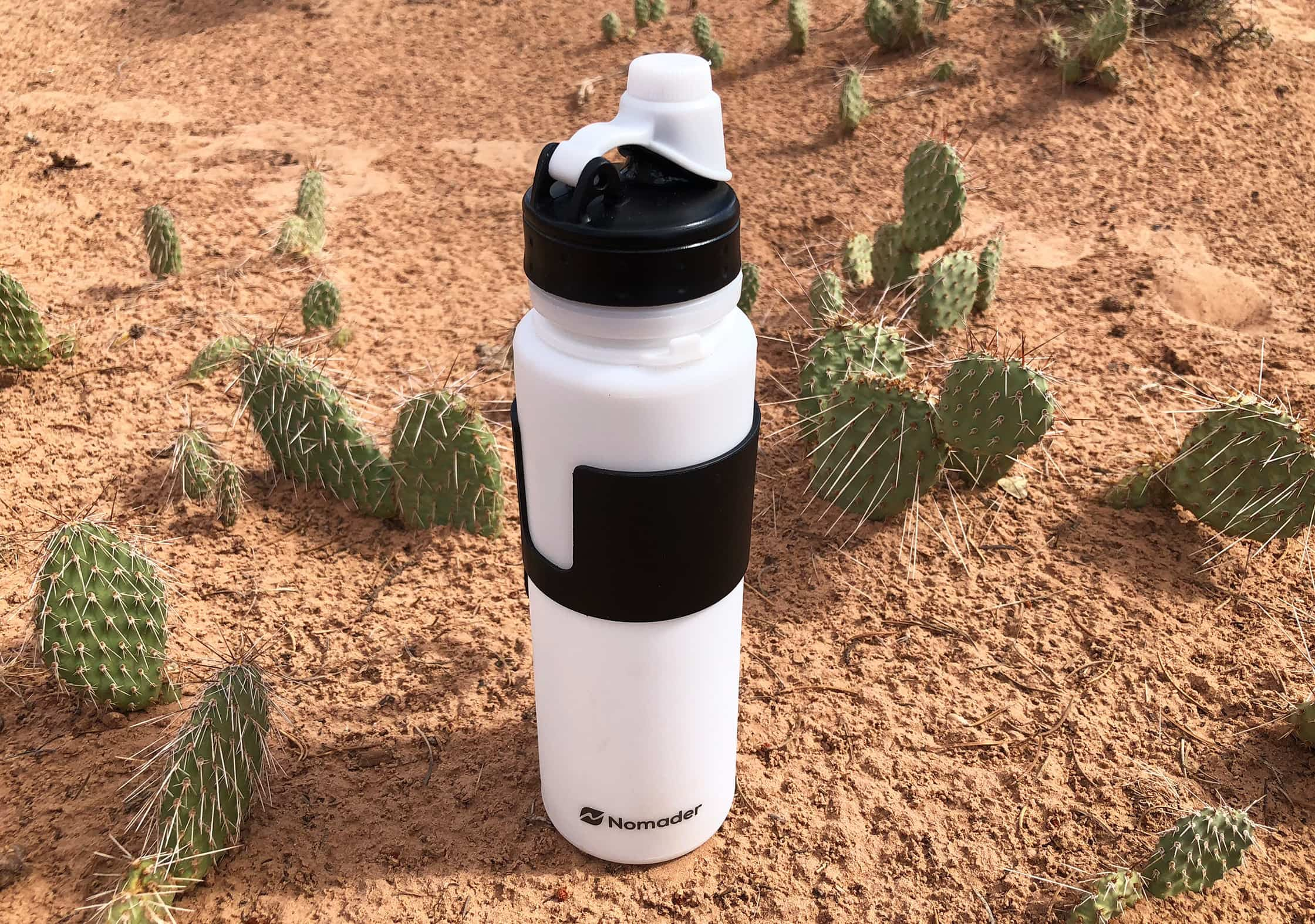 Nomader Collapsible Water Bottle In The Desert