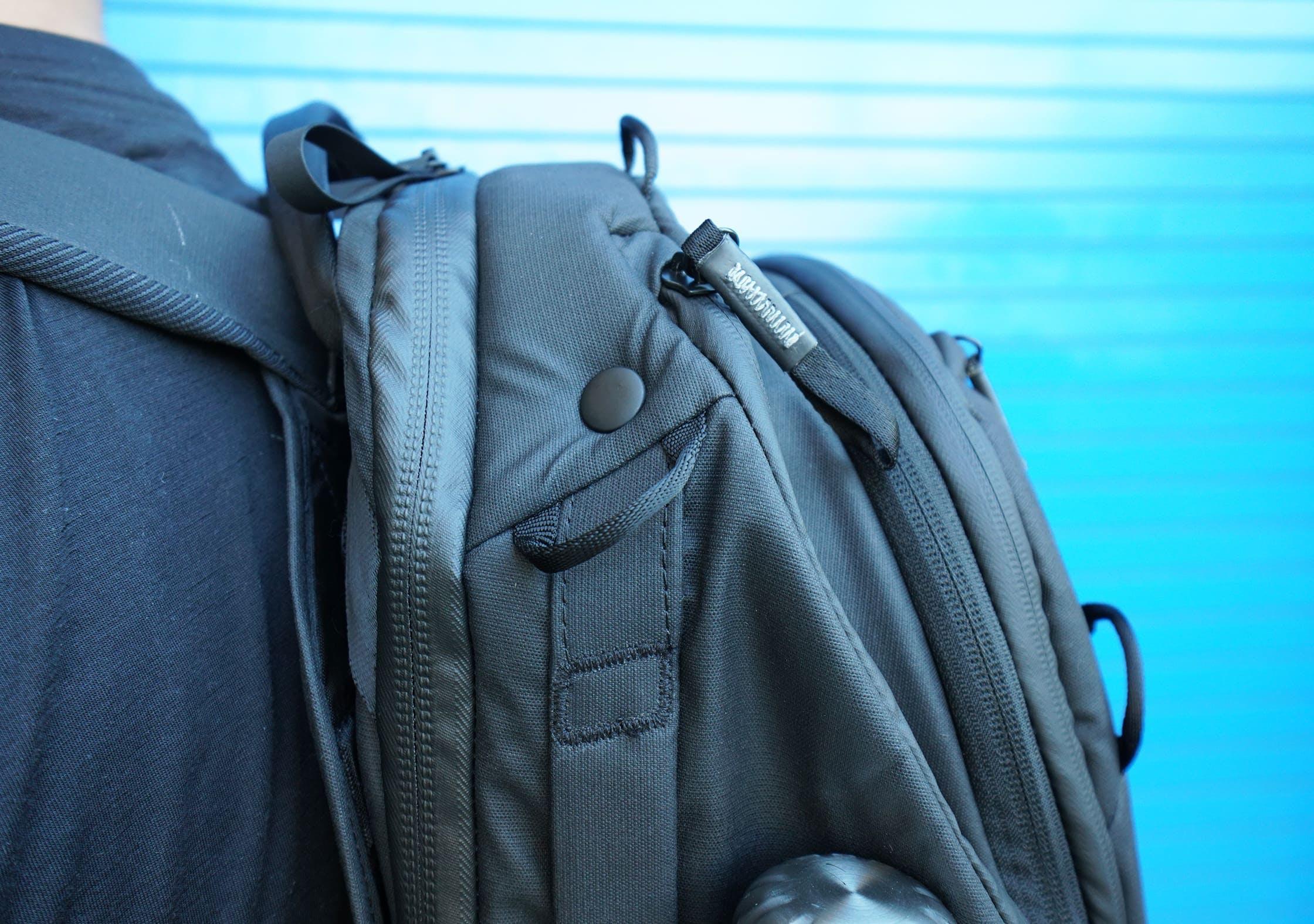 Peak Design Travel Backpack Button Compression System