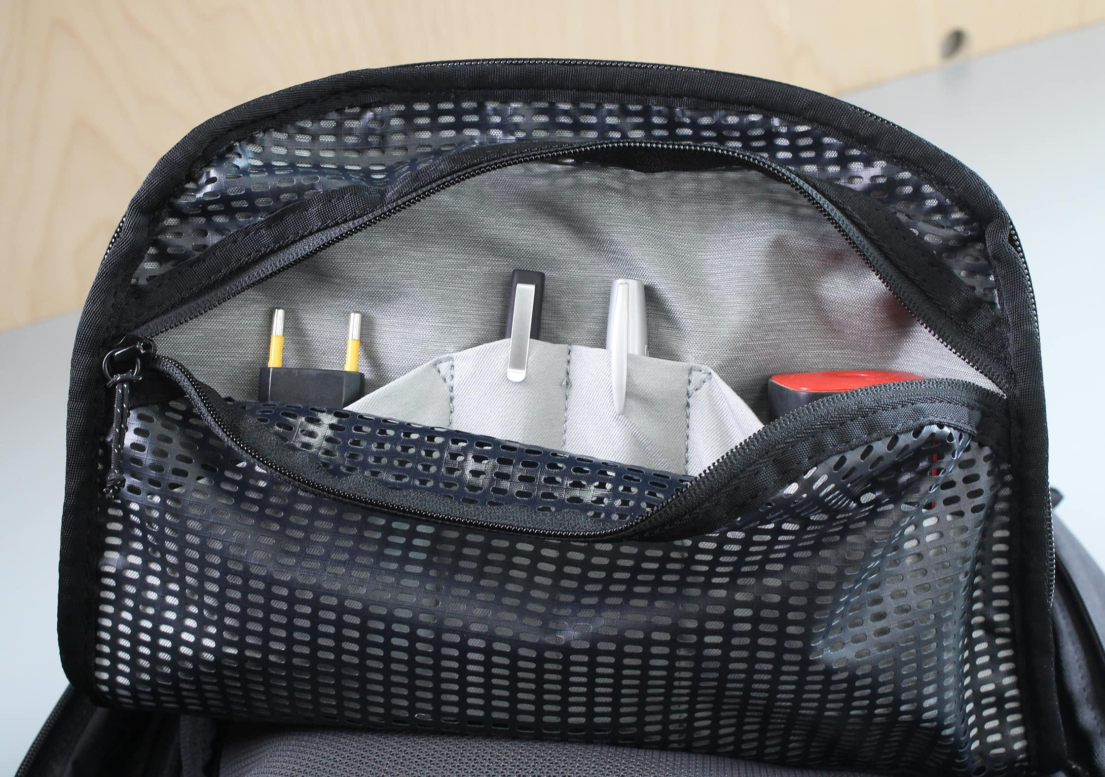 Peak Design Travel Backpack Rubbery Mesh Interior Pocket