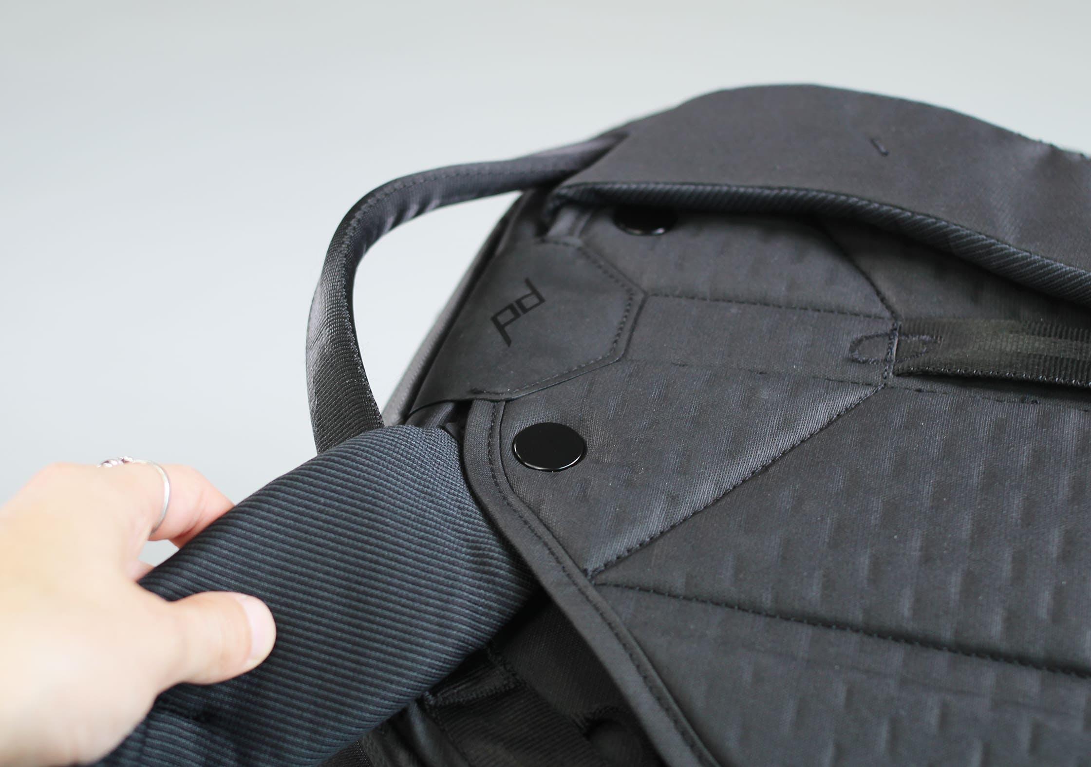 Peak Design Travel Backpack Rotating Shoulder Strap System