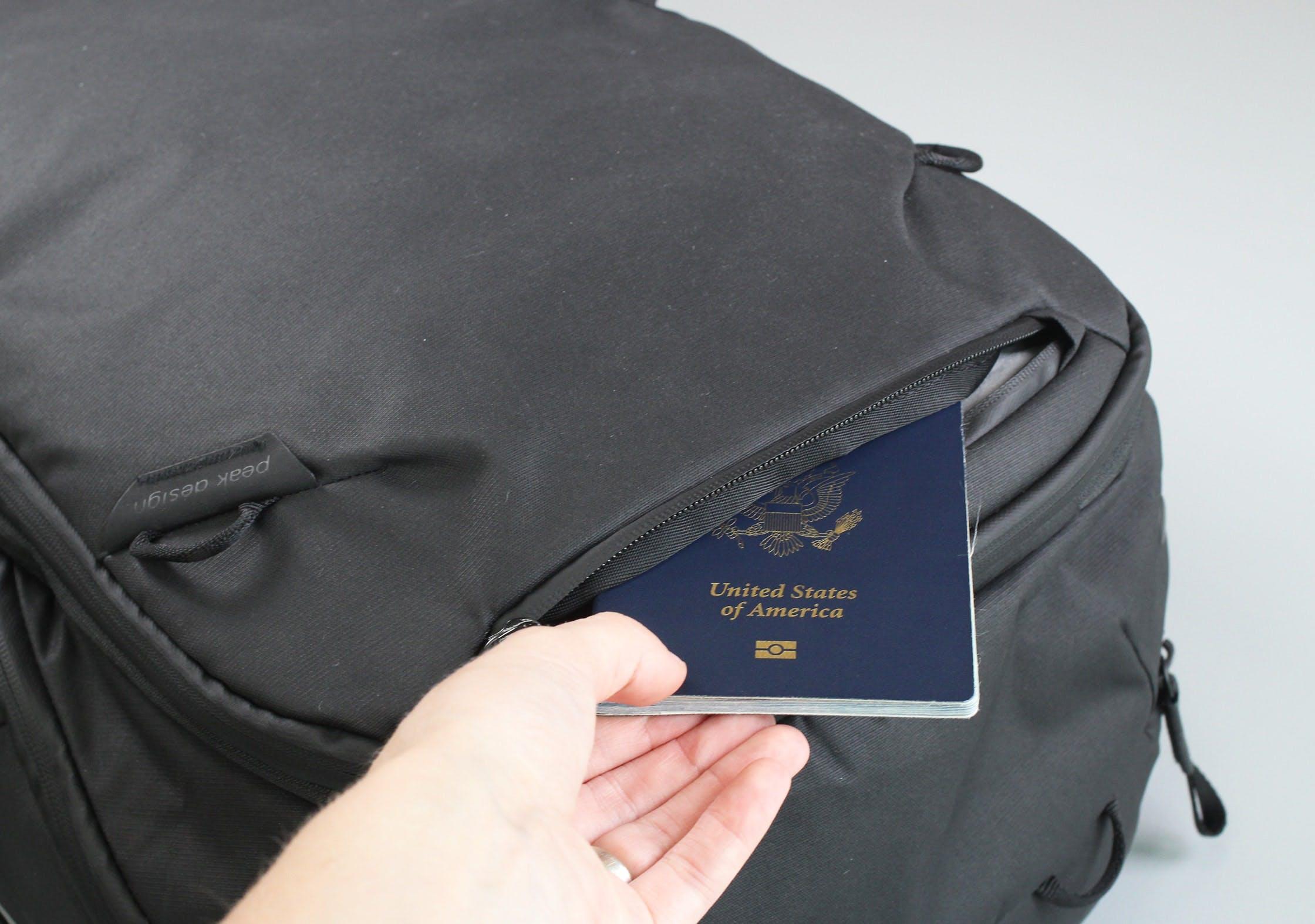 Peak Design Travel Backpack Quick Grab Pocket