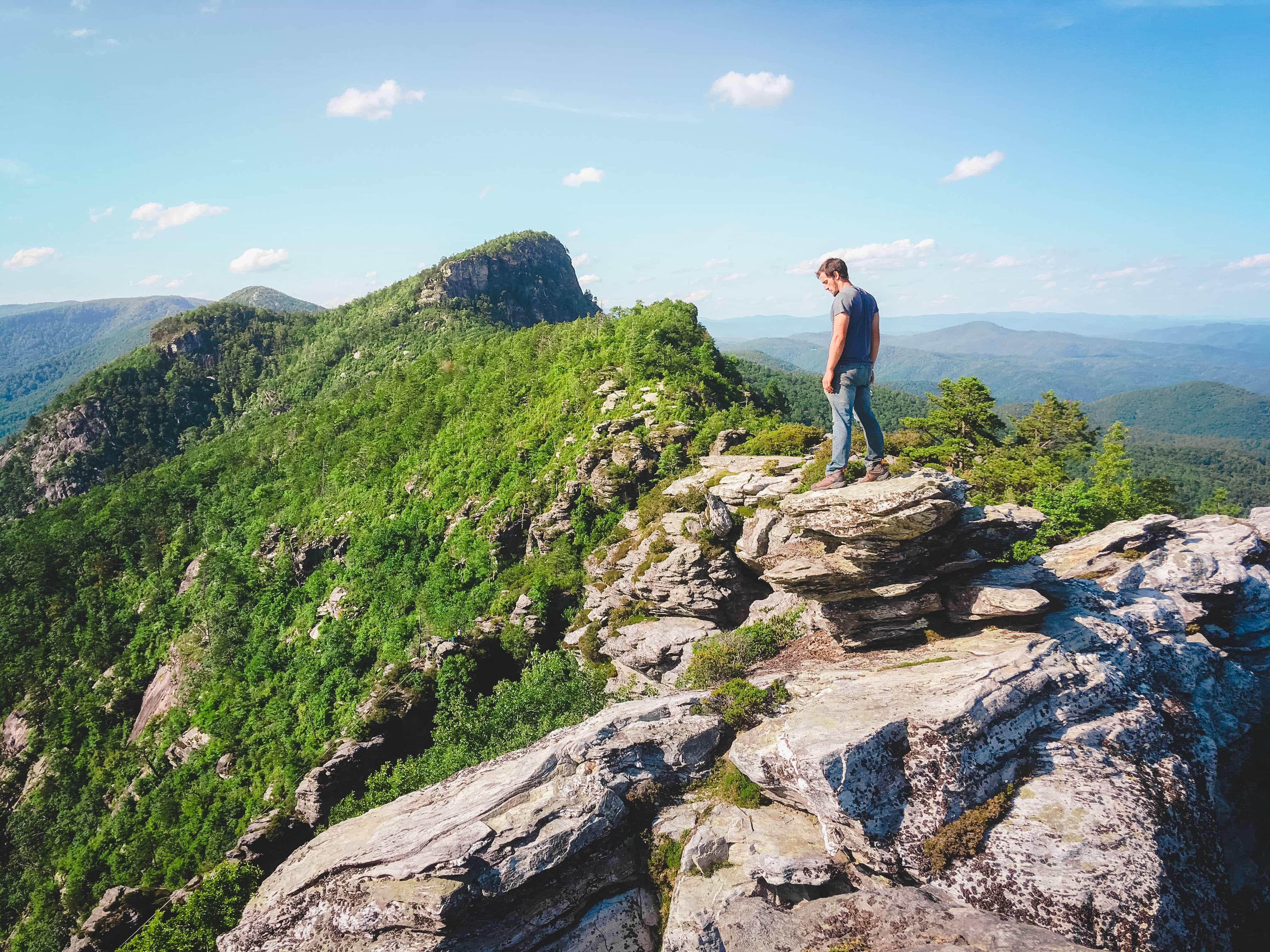 Josh at Table Rock, North Carolina