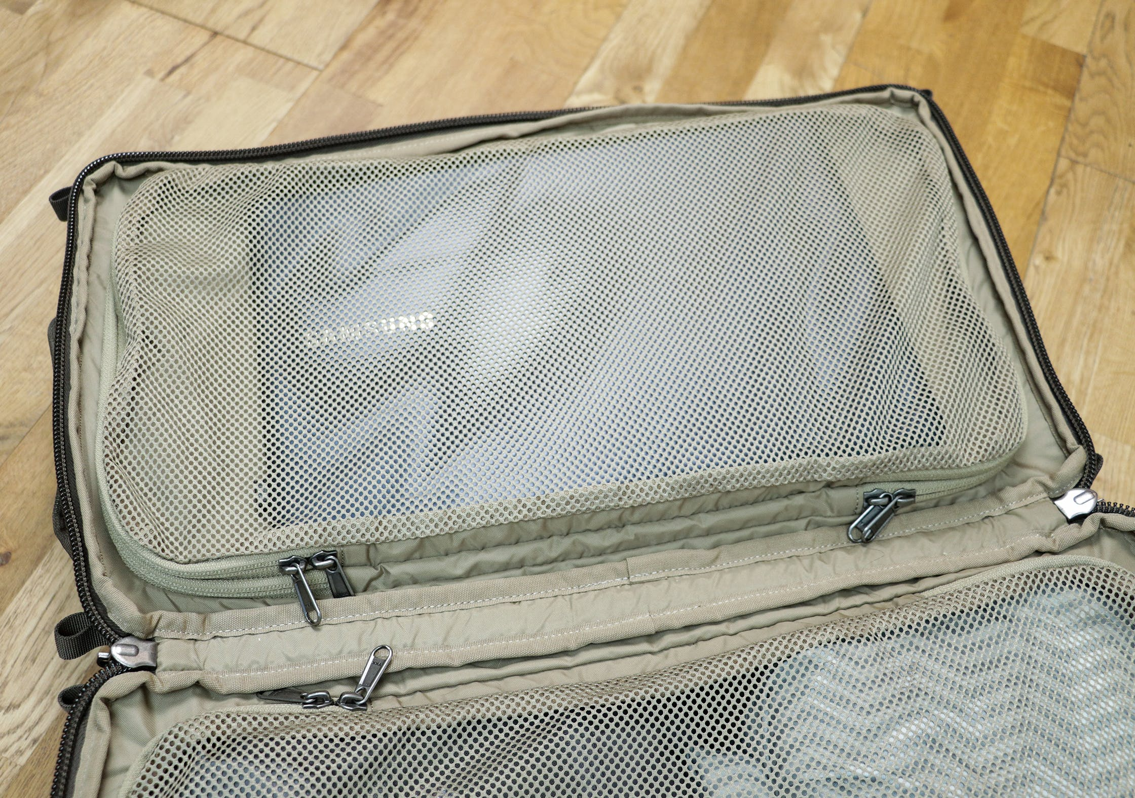 "13"" Laptop In The Thin Mesh Compartment Of The Fjallraven Splitpack"