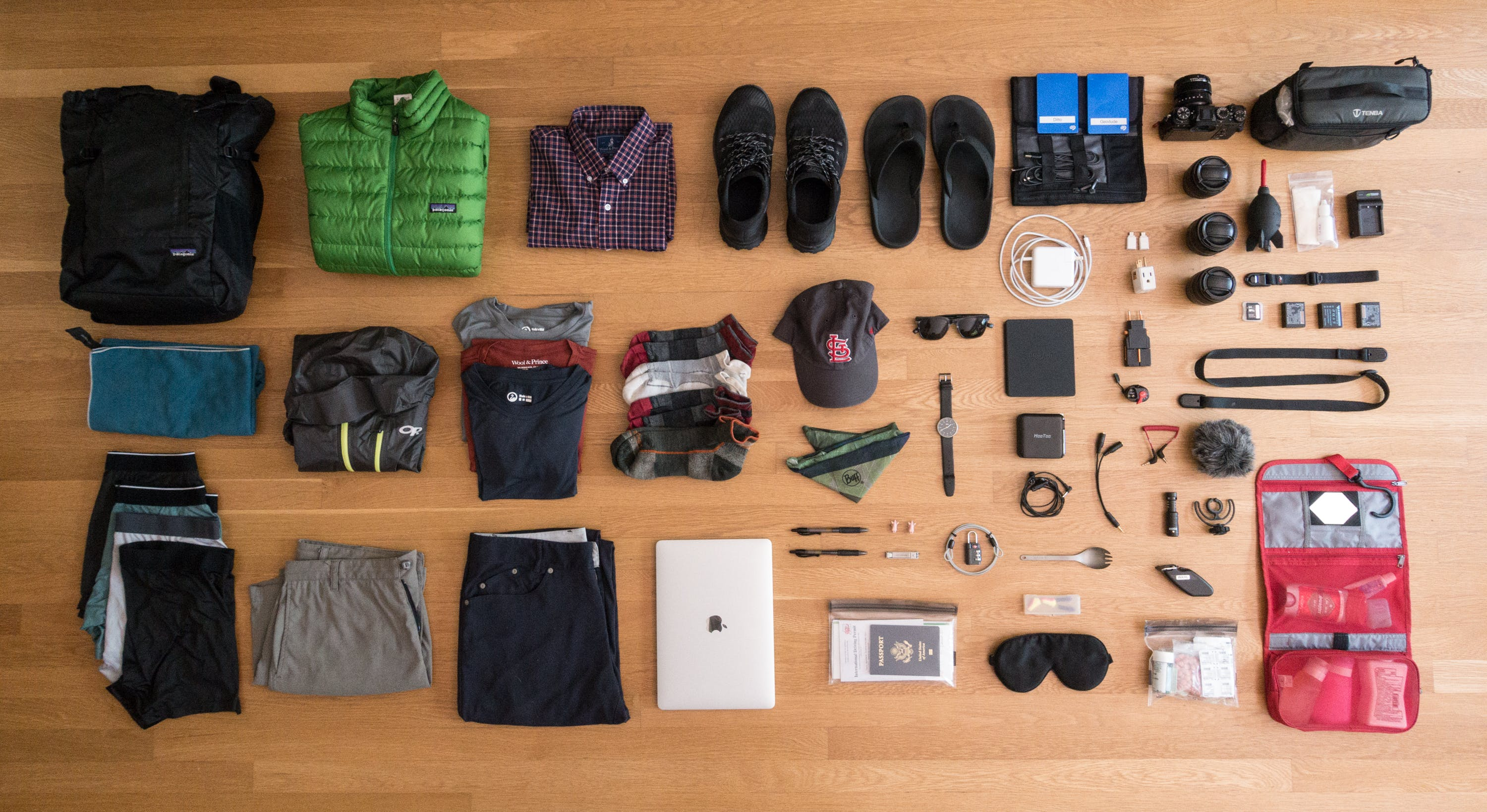 An Inside Look at Sam Sparks Packing List