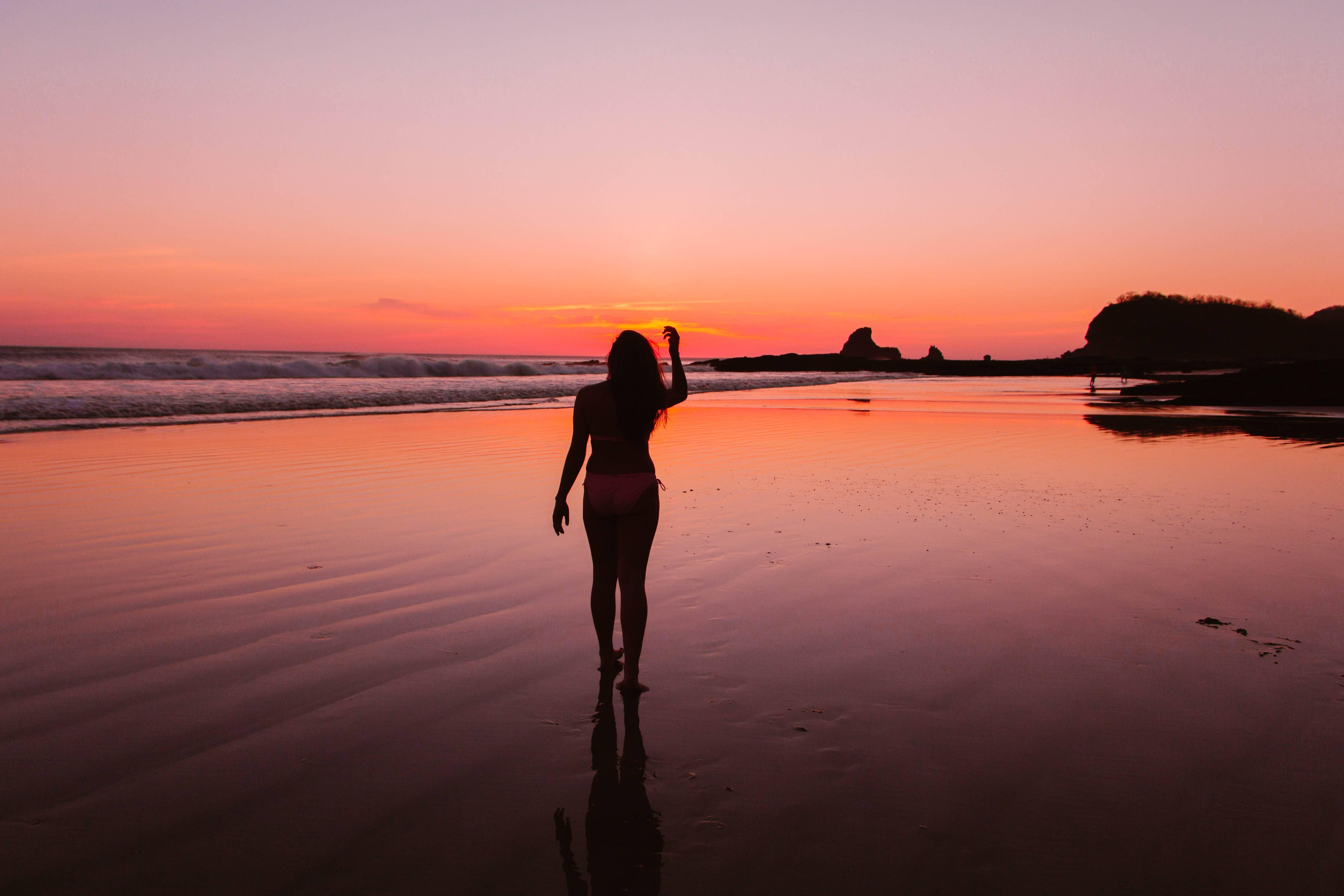 Erica Latack at Playa Maderas, Nicaragua