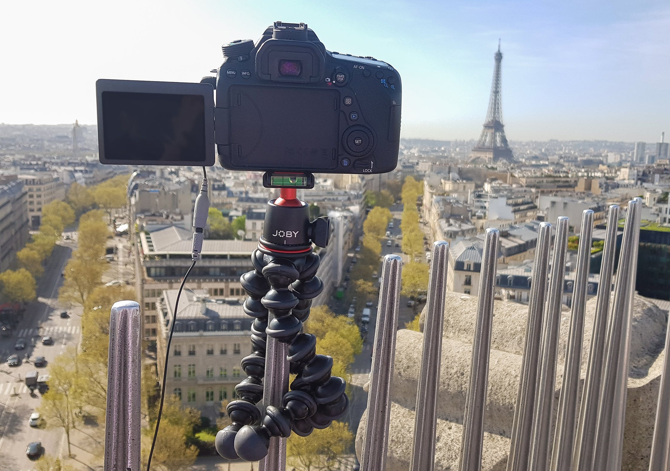 JOBY GorillaPod 3K On Top Of The Arc De Triomphe In Paris, France 1