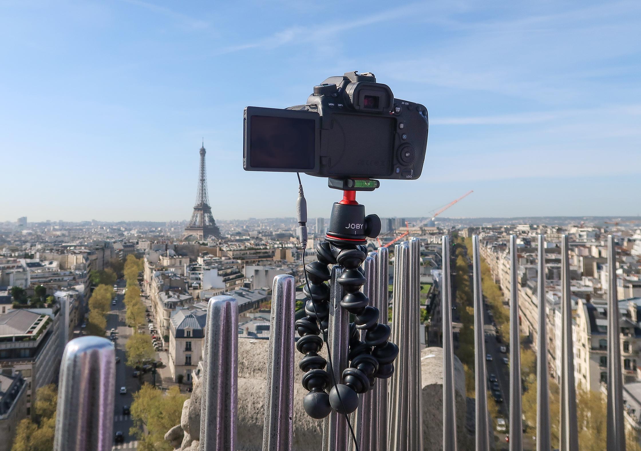 JOBY GorillaPod 3K On Top Of The Arc De Triomphe In Paris, France 2