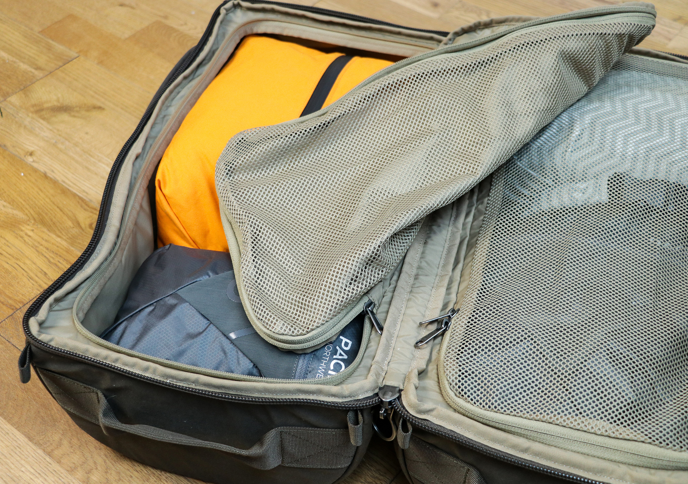 Left-Side Compartment Of The Fjallraven Splitpack
