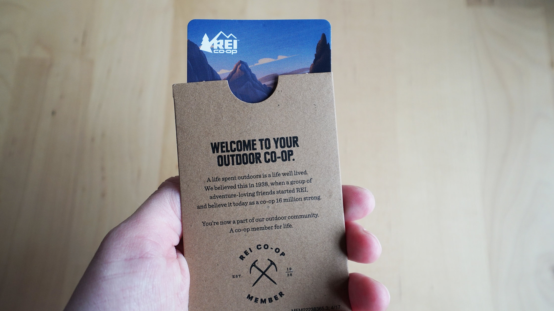 REI Membership Card