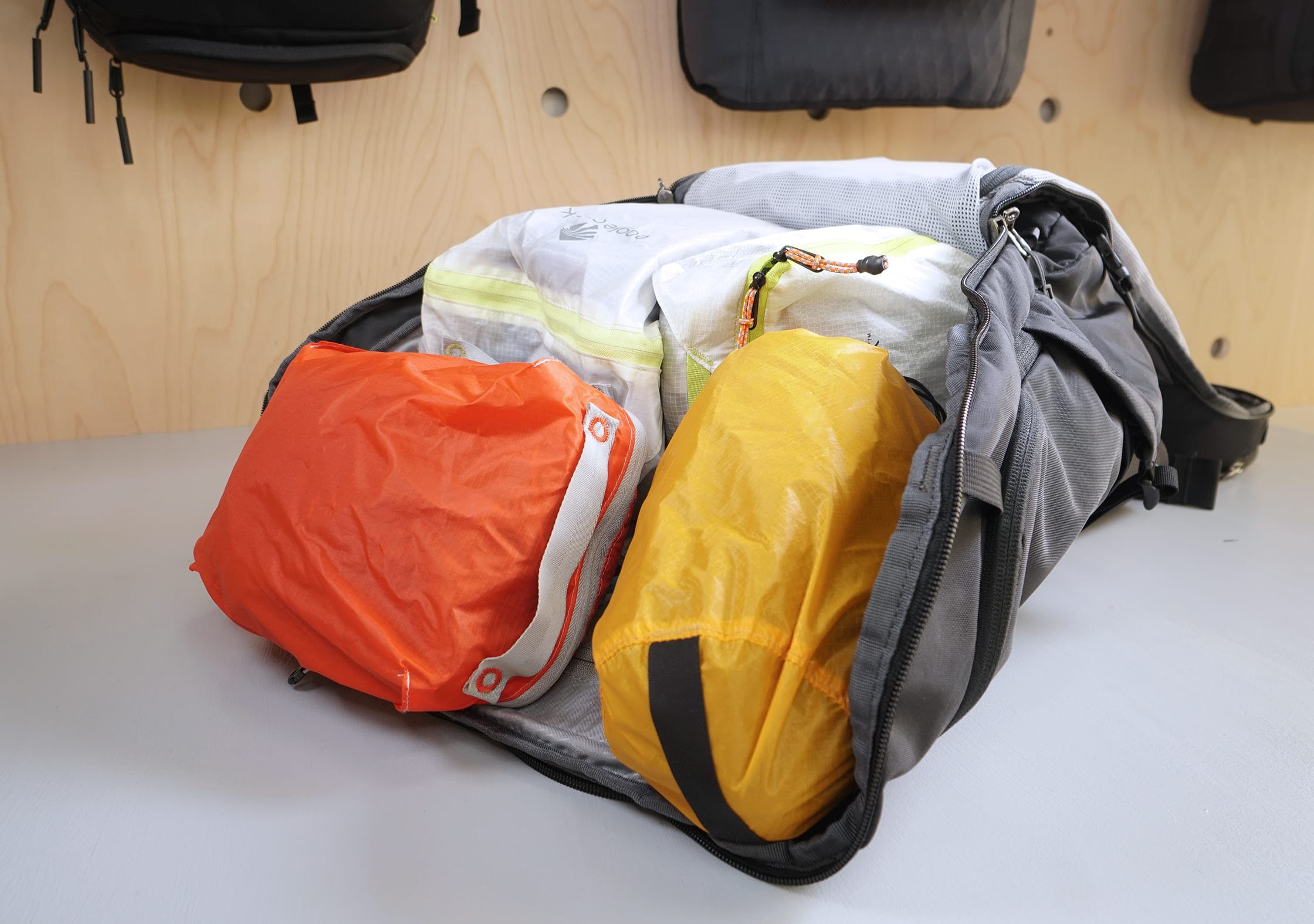 REI Ruckpack 40 Main Compartment With Packing Cubes