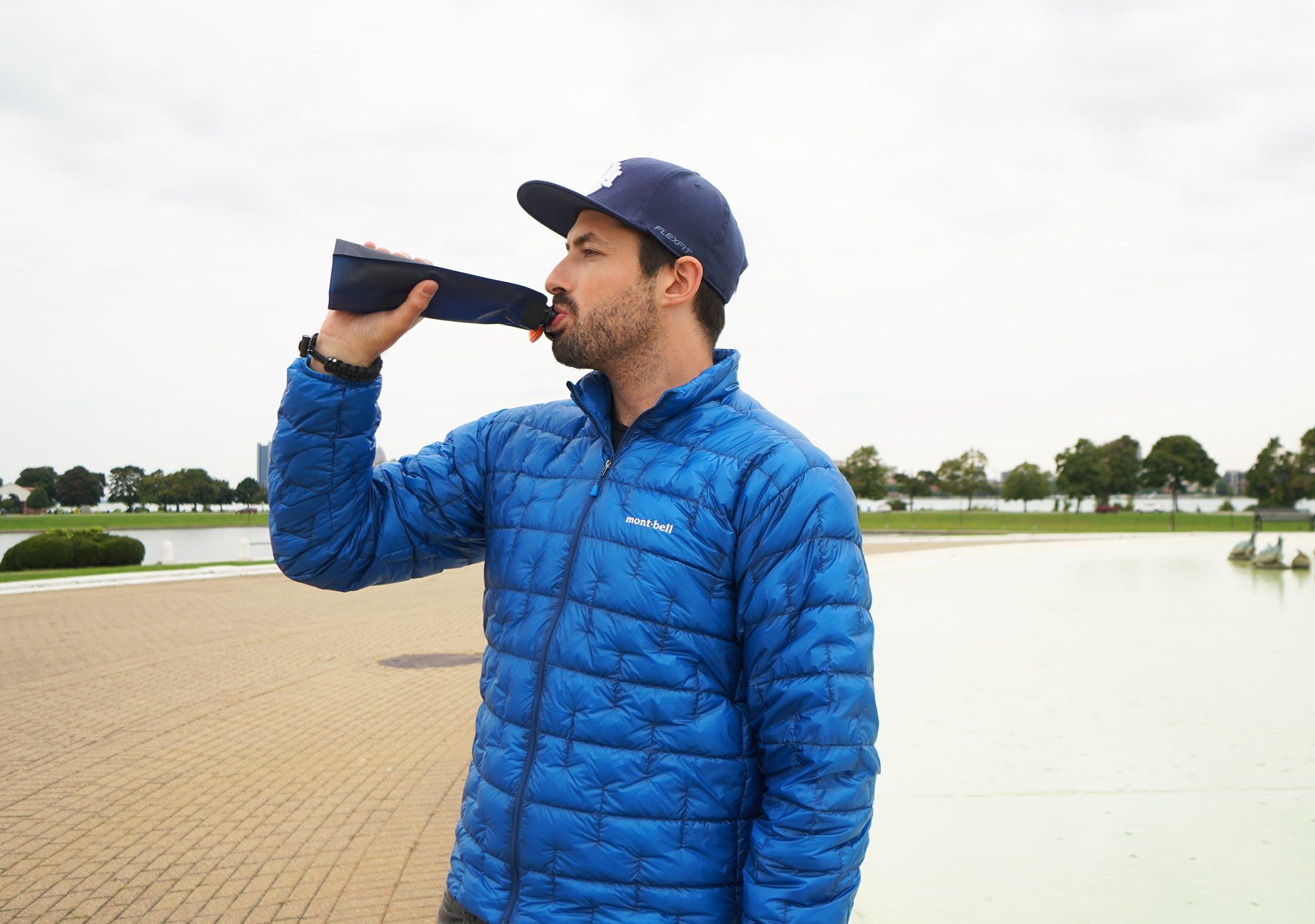 Vapur Eclipse Water Bottle In Use
