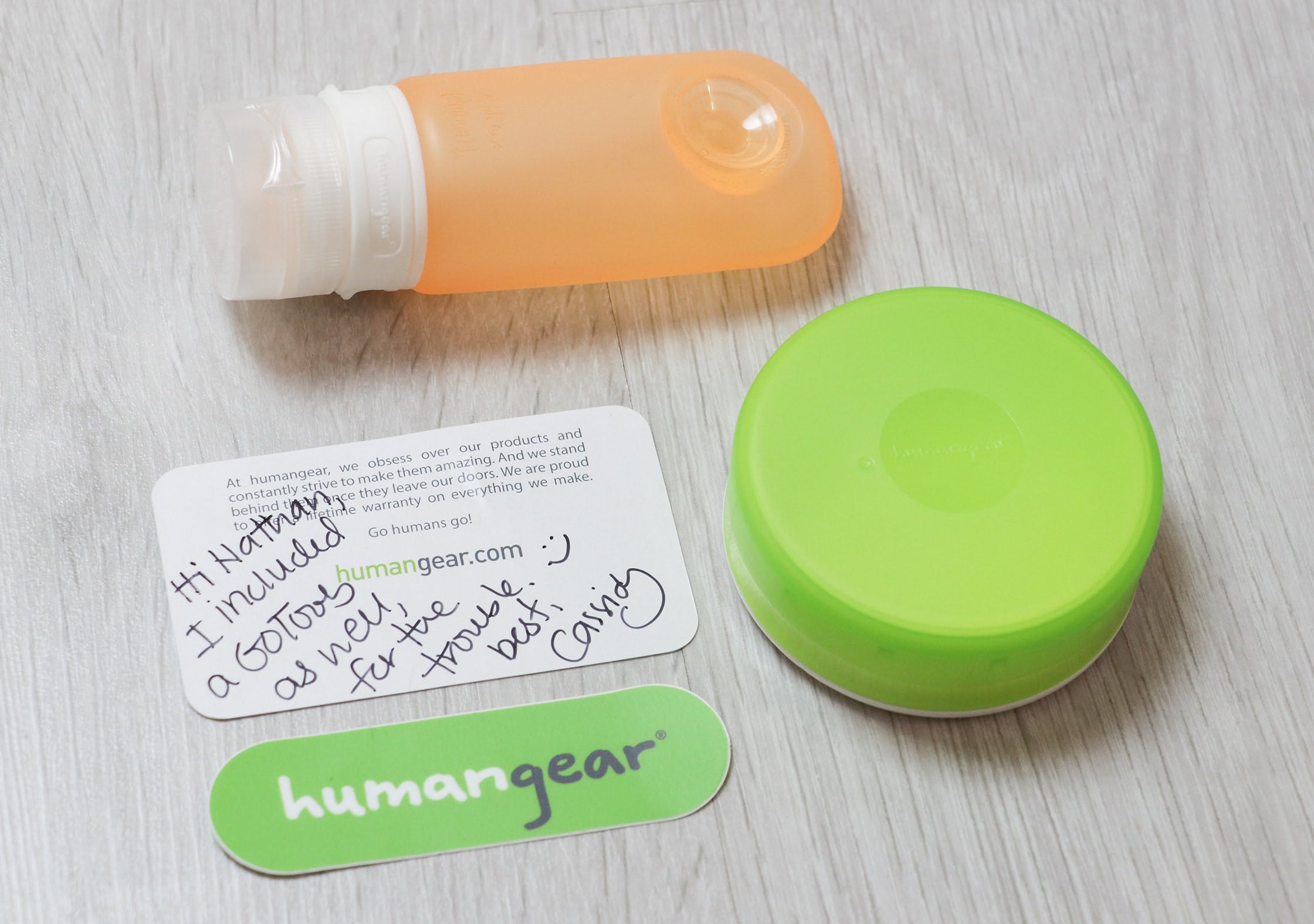 Warranty Replacement From Humangear With A Complimentary GoToob