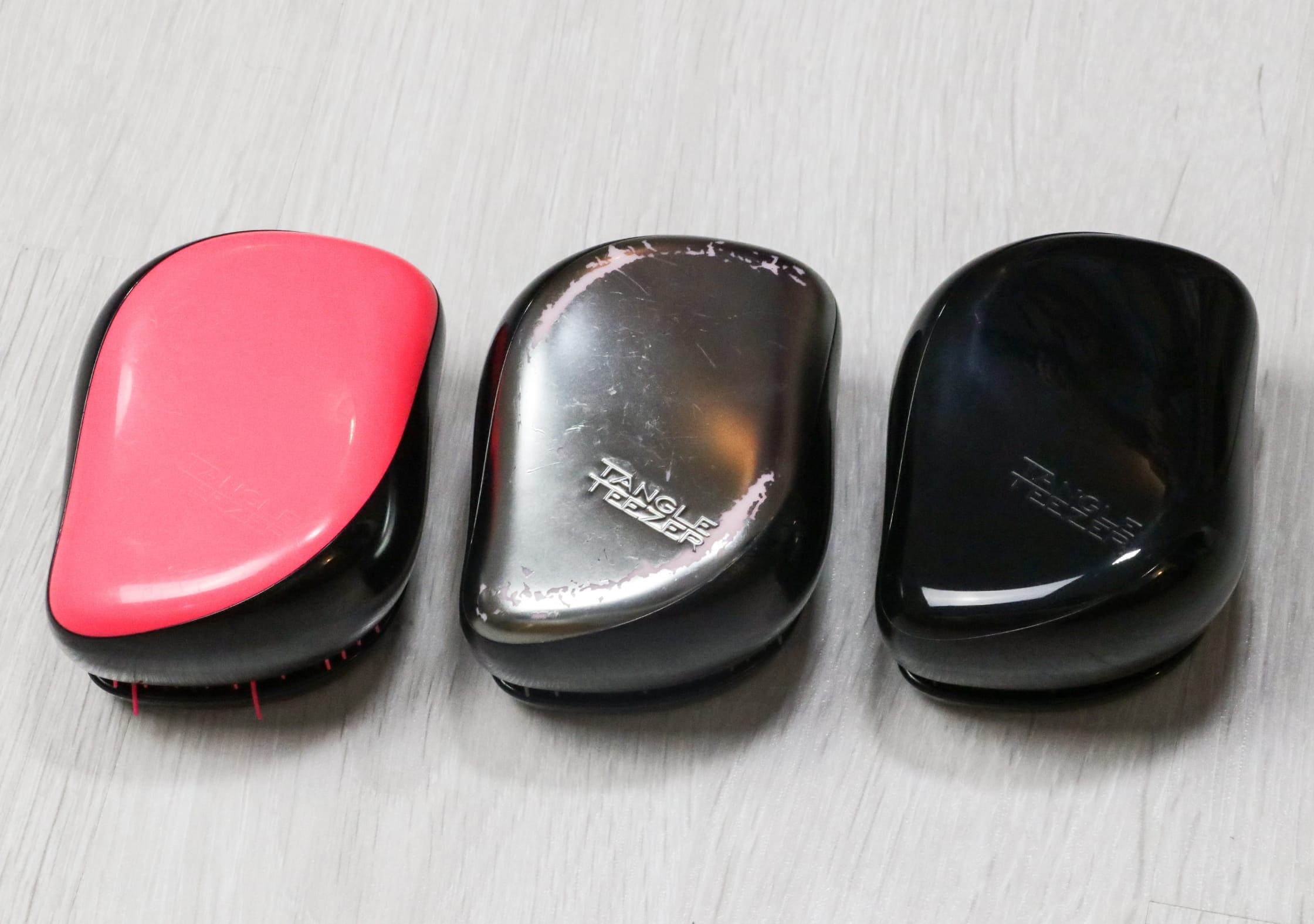 All Three Colors Of The Tangle Teezer Compact Styler We Have Been Testing