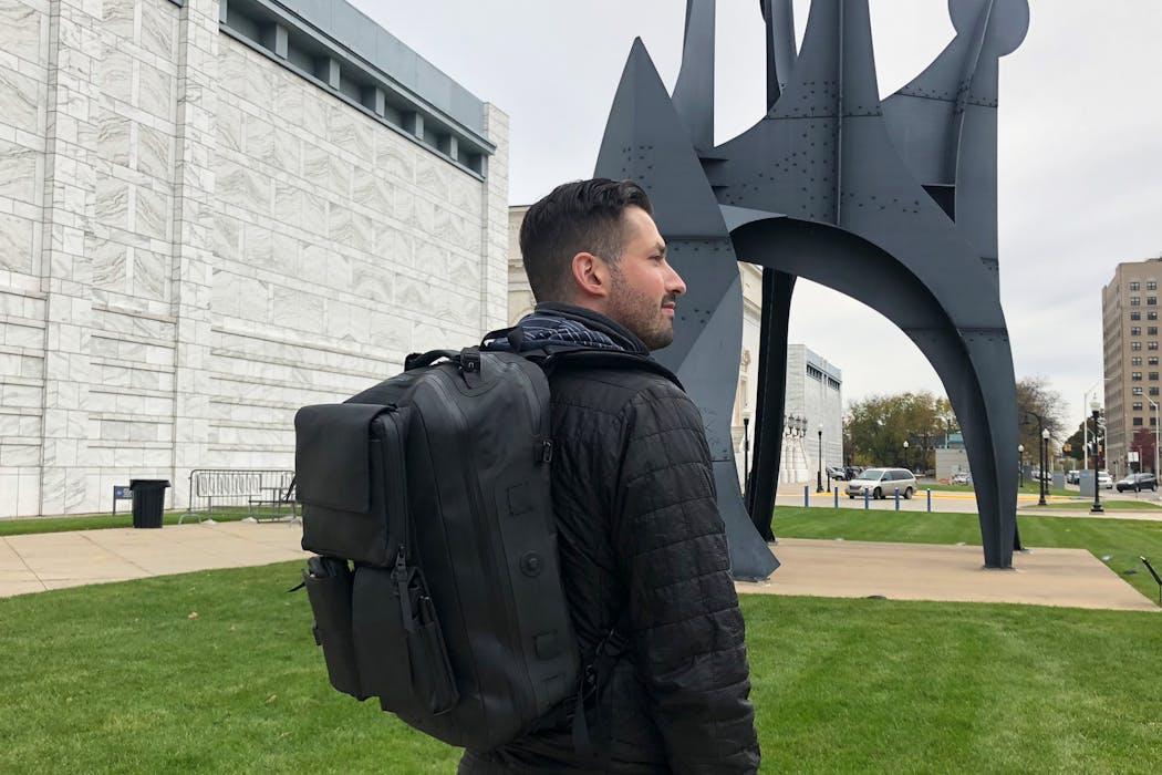 Black Ember Citadel Modular Backpack In Detroit