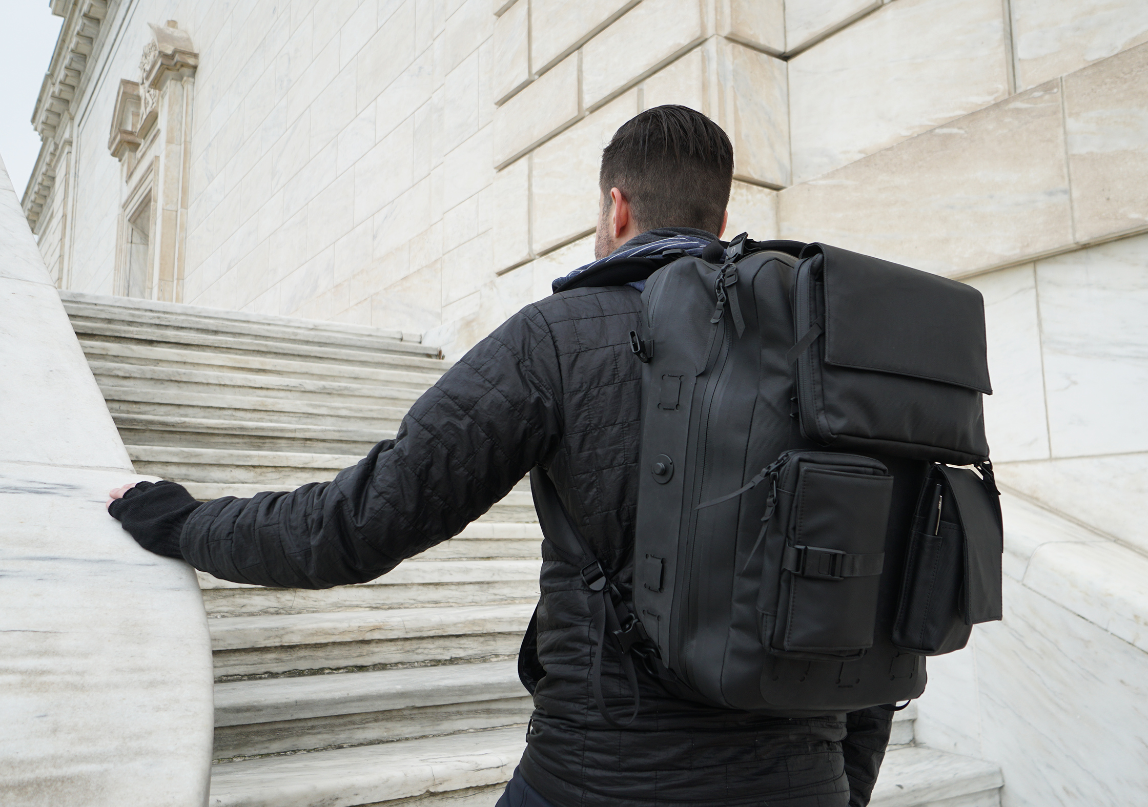 Black Ember Citadel Modular Backpack In Detroit