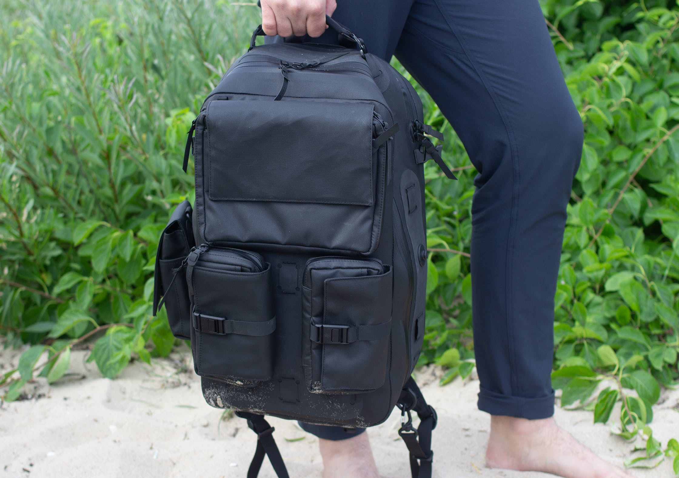 Black Ember Citadel Modular Backpack In Northern Michigan