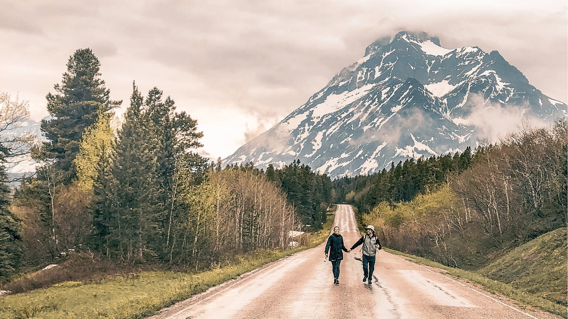 Julie and Zach at Glacier National Park