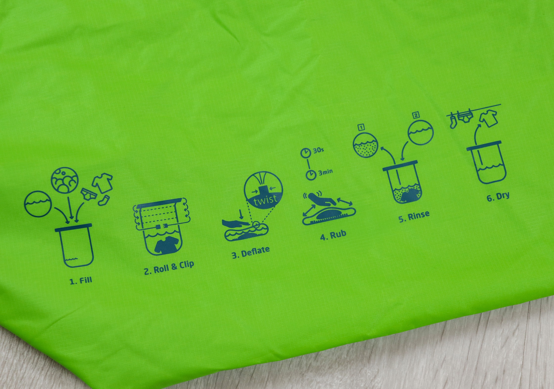 Scrubba Wash Bag Instructions