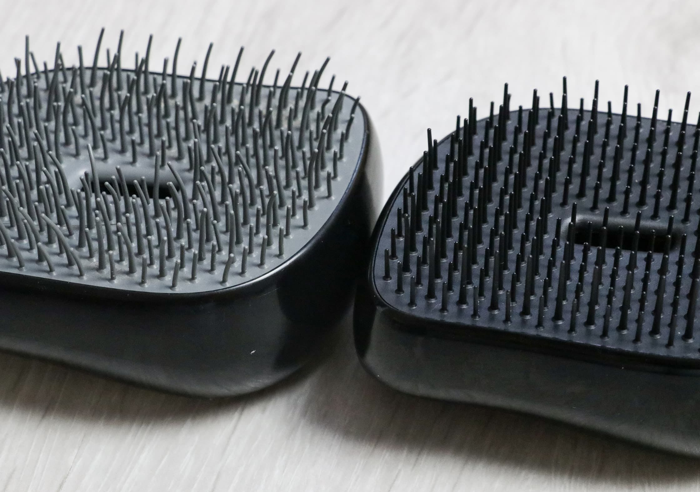 Three Year Old Teeth On The Left And New Tangle Teezer Compact Styler On The Right