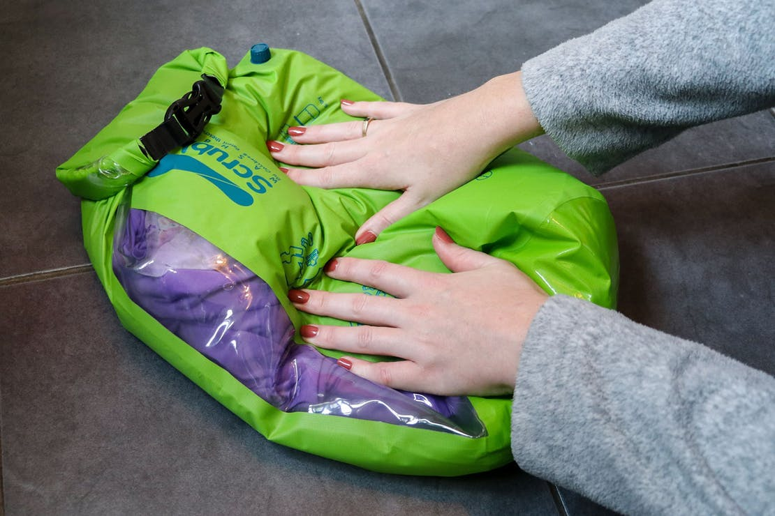 Washing Clothes With The Scrubba Wash Bag
