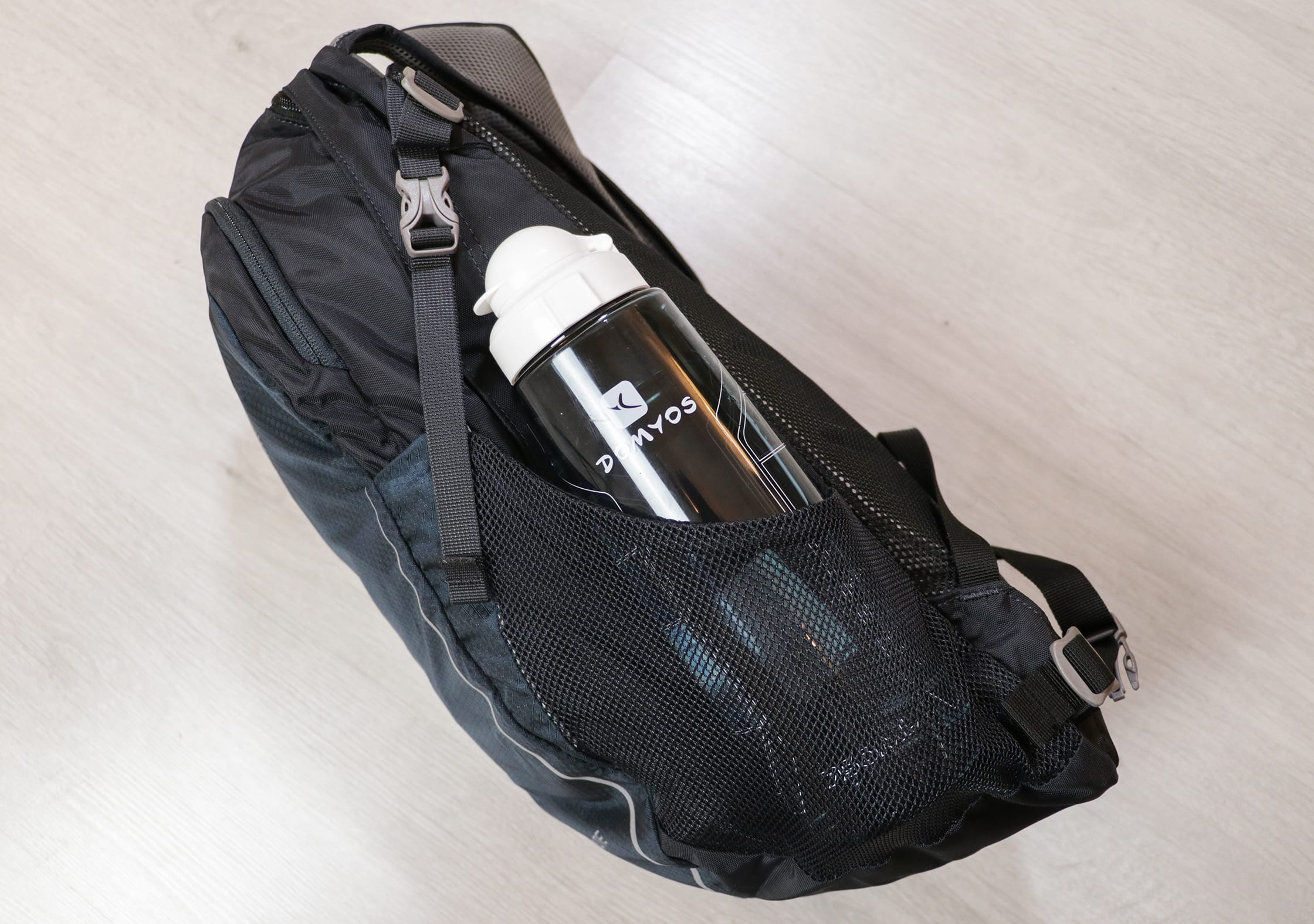 Water Bottle Pocket & Compression Strap On The Osprey Daylite