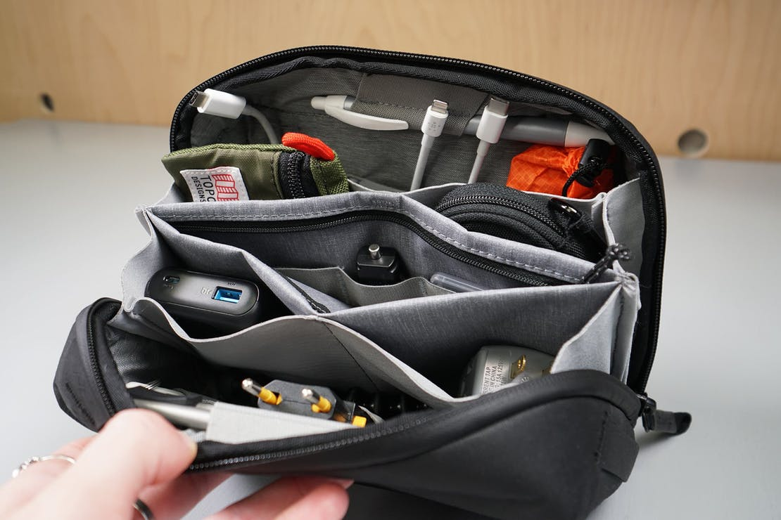Peak Design Tech Pouch Interior Organization