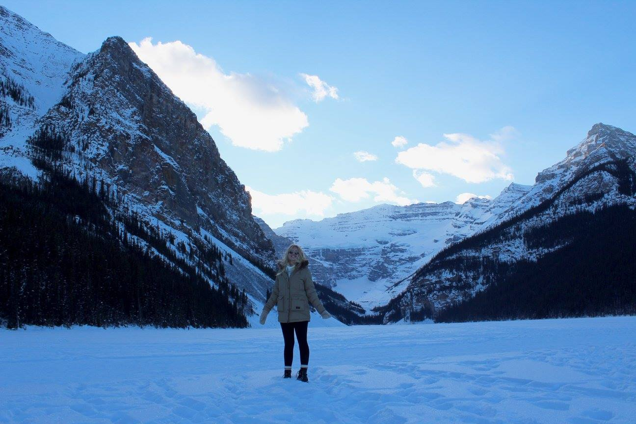 Abby McNeill at Lake Louise, Alberta, Canada