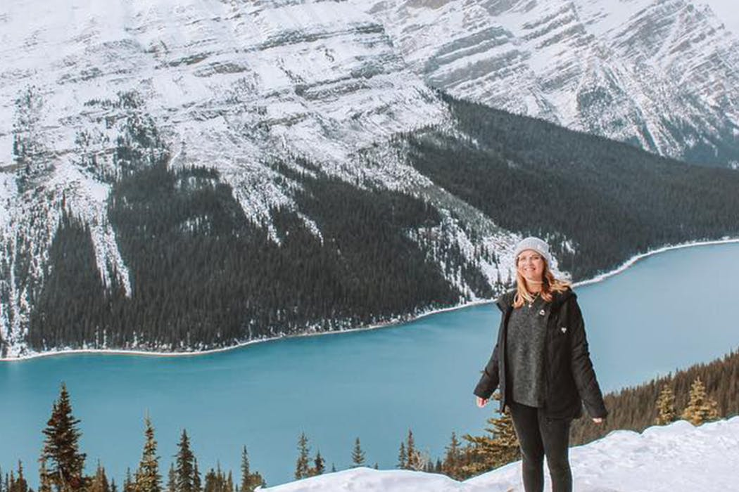 Abby McNeill at Peyto Lake—Banff National Park, Alberta, Canada