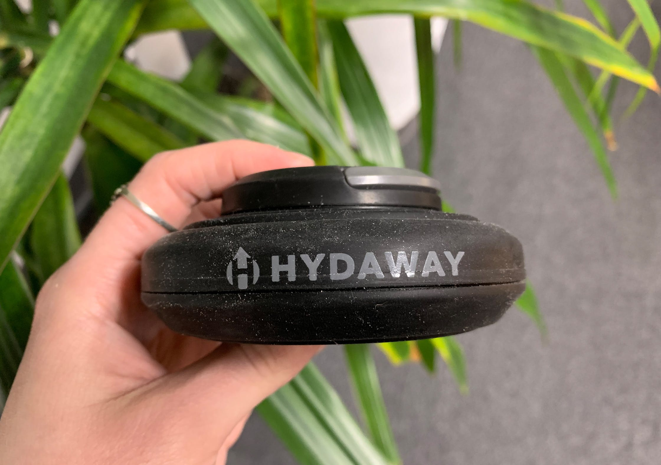 Hydaway 18oz Collapsible Water Bottle Fully Collapsed With Dust