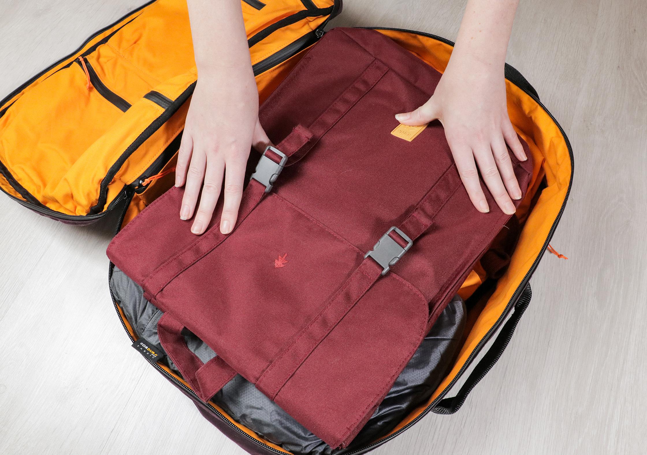 Lefrik Handy Backpack Inside The 30L Trakke Storr