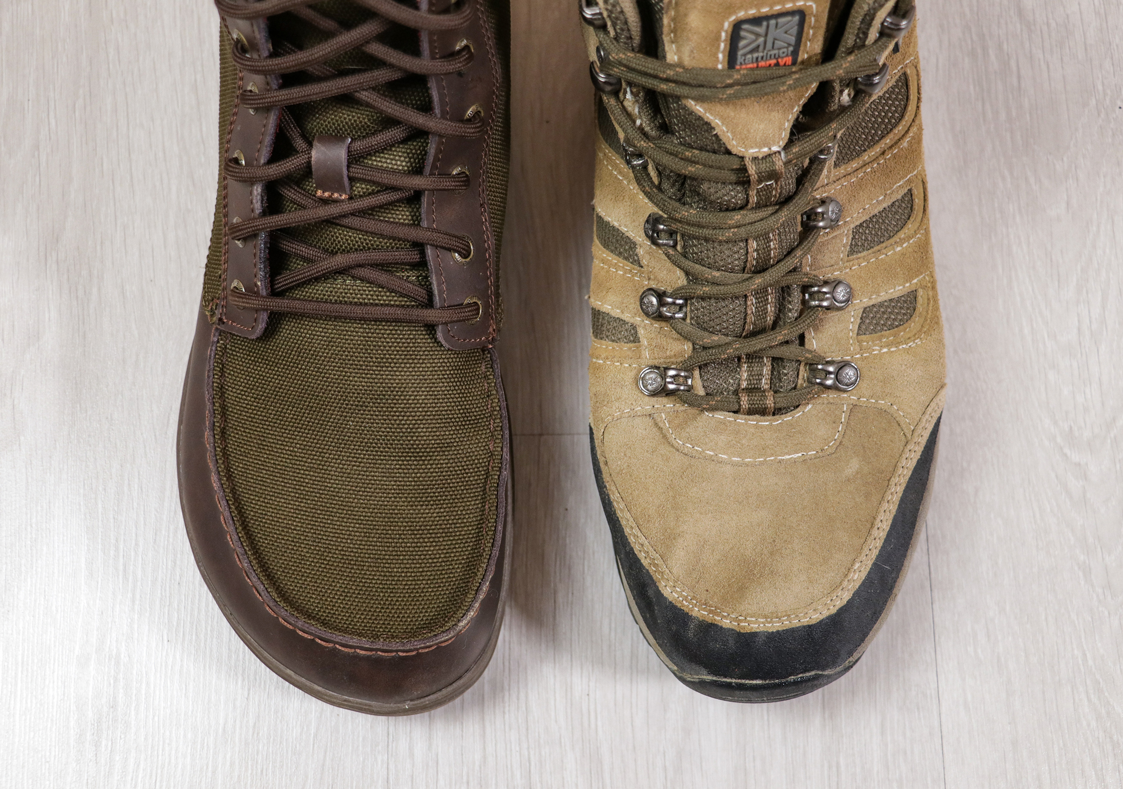 Lems Boulder Boot Toe Box Vs A Traditional Boot