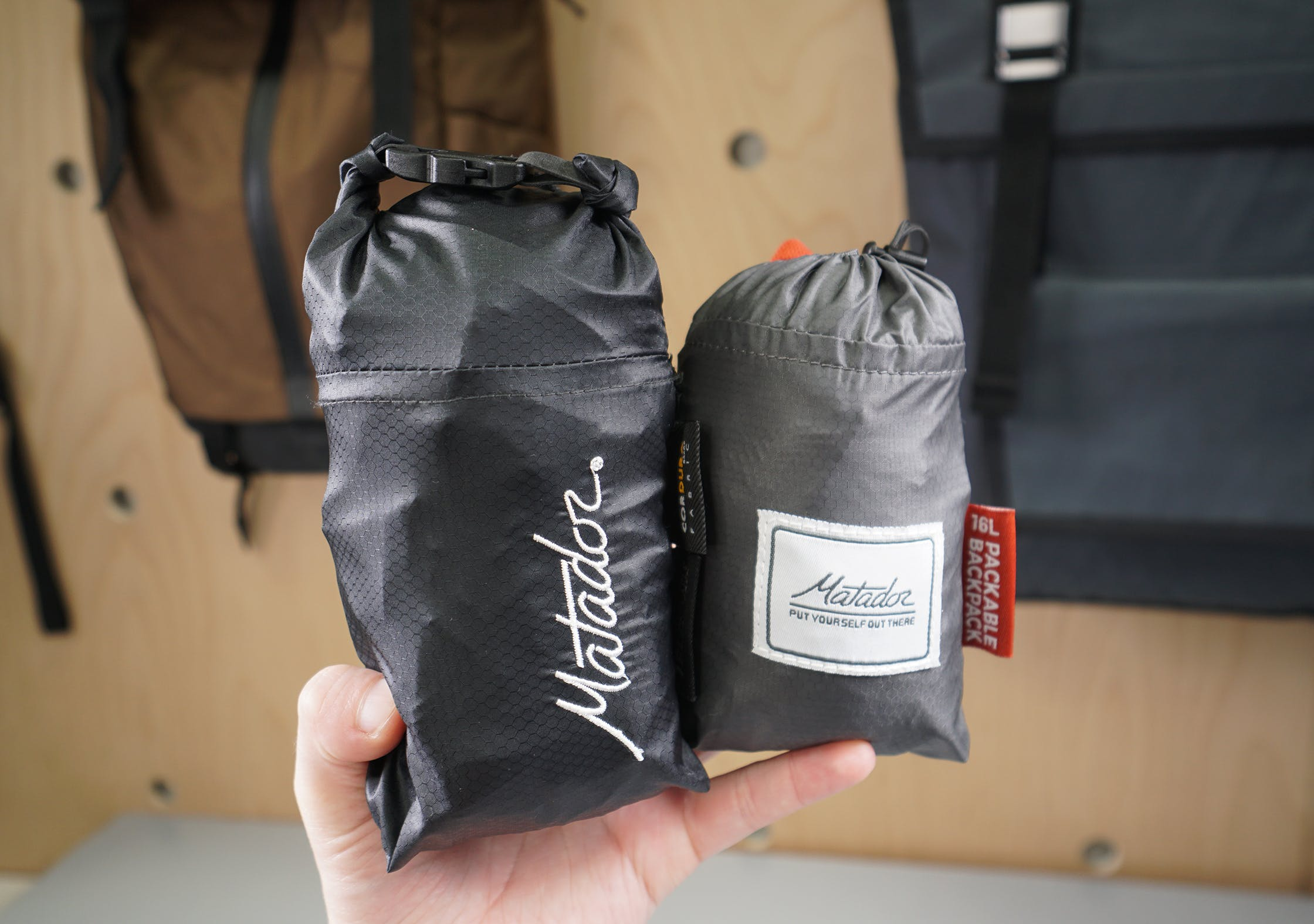 Matador Freefly16 Daypack   (Left) Compared To The Matador Daylite16 (Right)