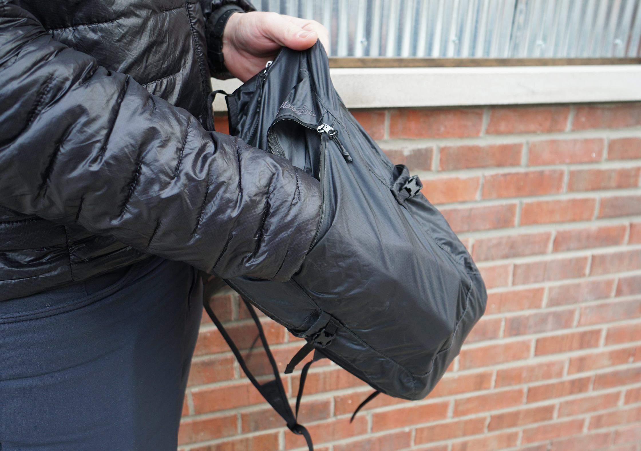 Matador Freefly16 Daypack Front Pocket In Use