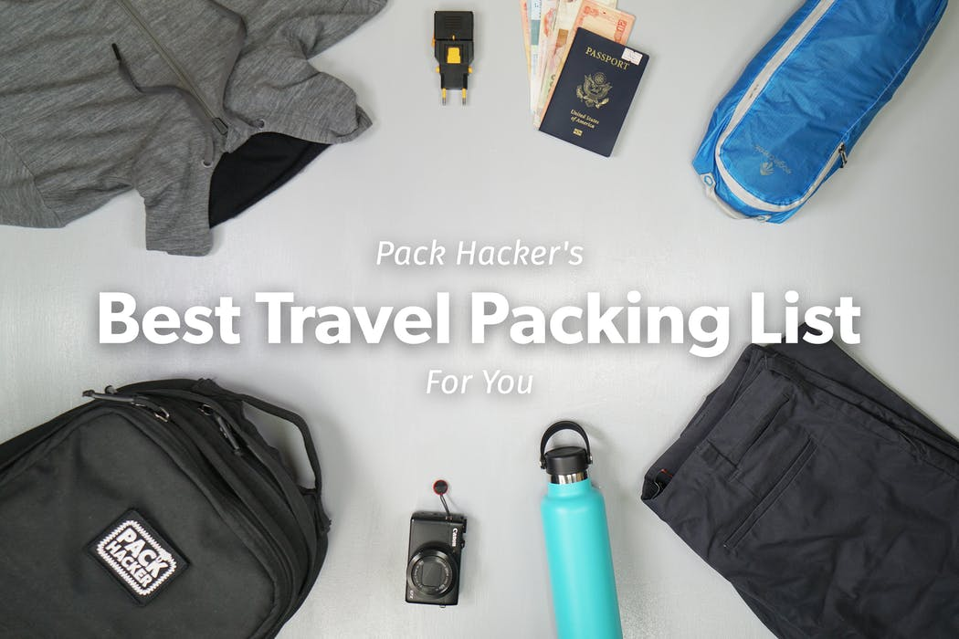 The Best Travel Packing List Guide For You | Pack Hacker
