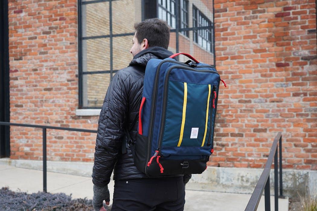 Topo Designs Travel Bag 40L In Use