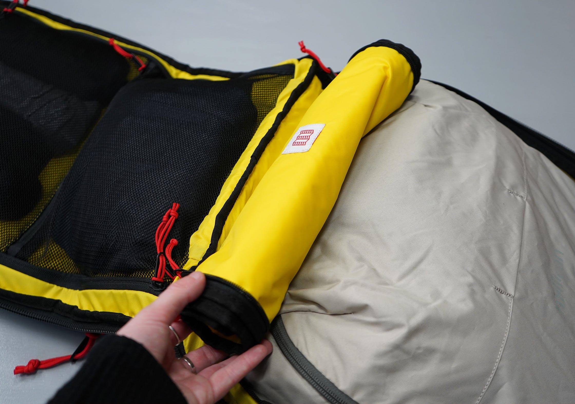 Topo Designs Travel Bag 40L Rolled Up Divider