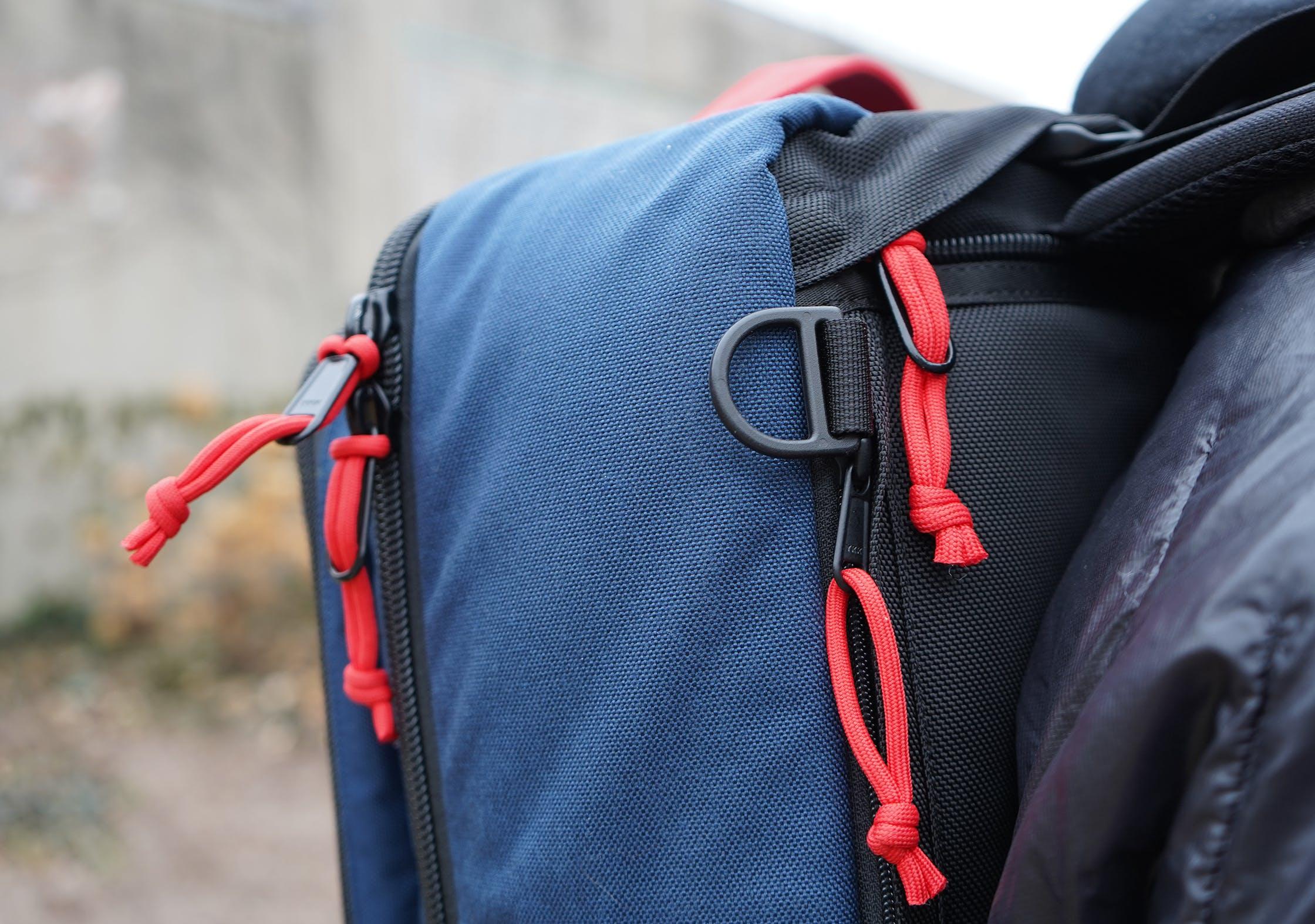 Topo Designs Travel Bag 40L Zipper Pulls 605fb1d6b7fdb
