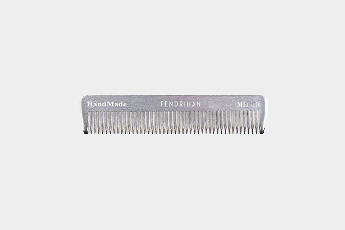 Fendrihan Sturdy Metal Fine Tooth Barber Pocket Grooming Comb