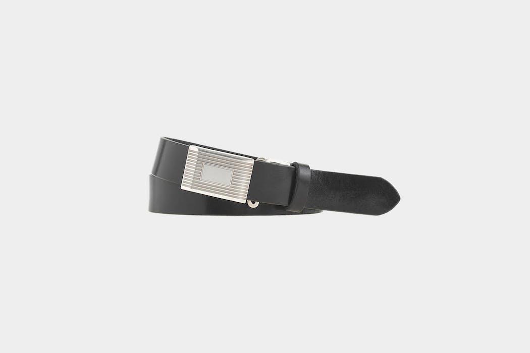 J. Crew Leather Plaque Belt