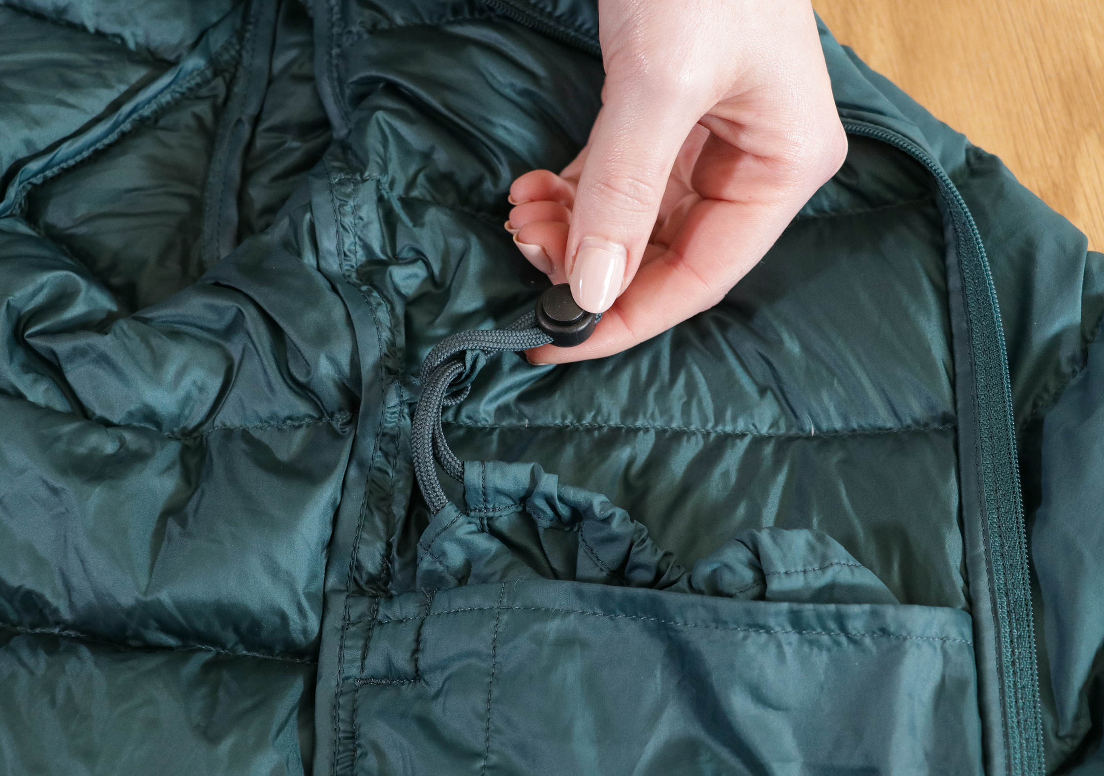 Uniqlo Ultra Light Down Jacket Internal Pouch Attachment