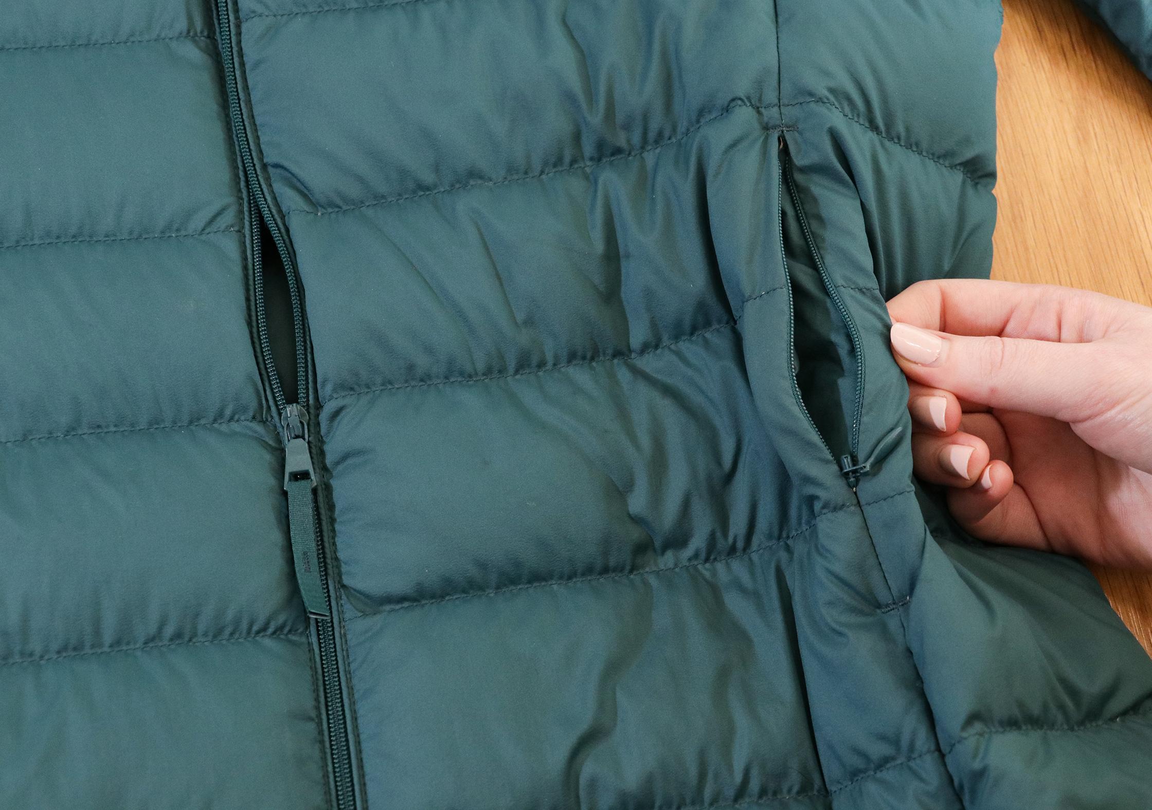 Uniqlo Ultra Light Down Jacket Zippers & Nylon Shell