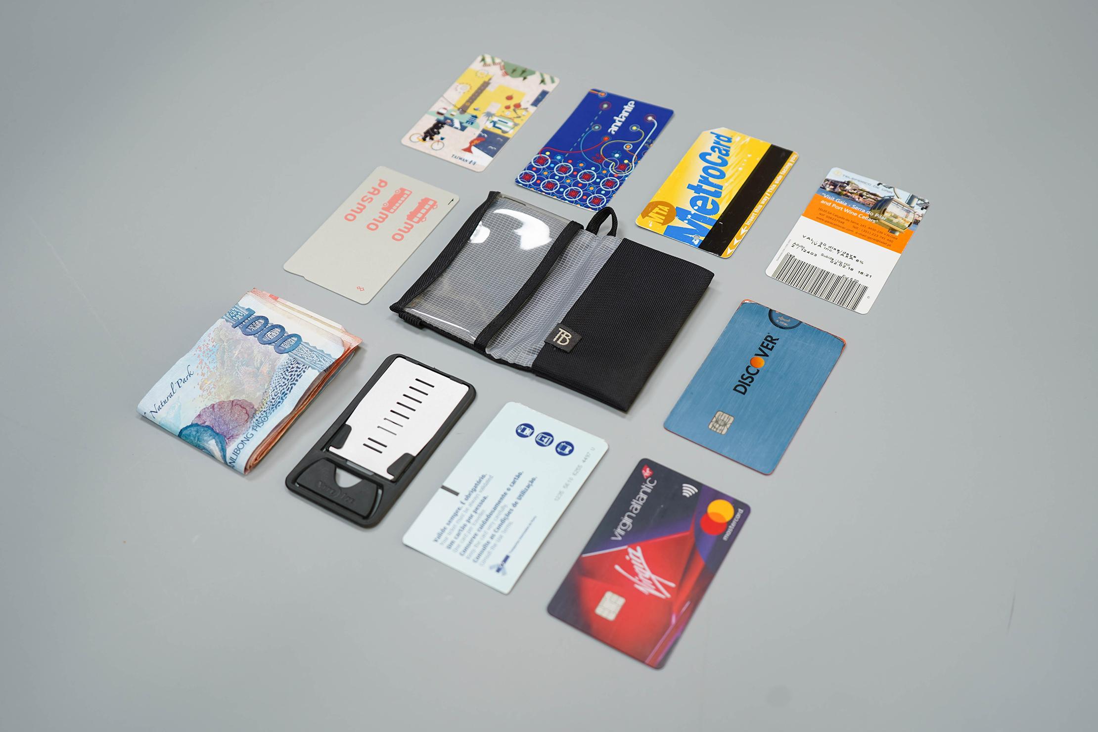 Tom Bihn Nik's Minimalist Wallet Flat Lay
