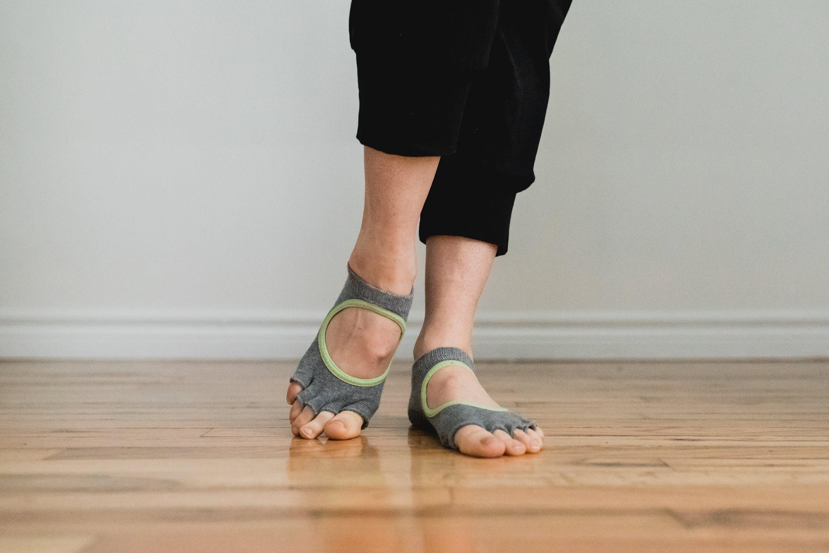 Bella Half Toe Grip Socks give the feeling of being barefoot